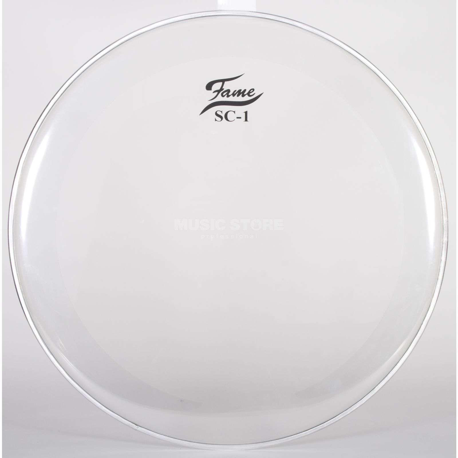 "Fame Bass Drum Head SC1, 24"", Sound Control, clear Immagine prodotto"