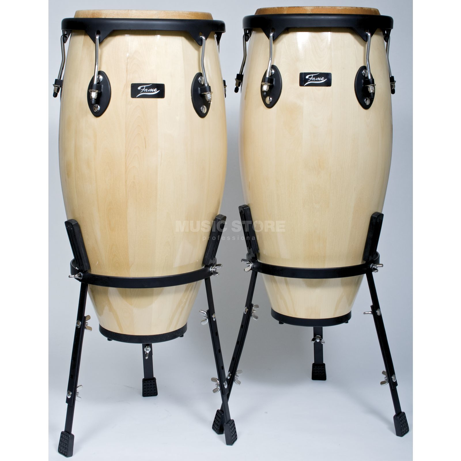 "Fame Conga Set 11""+12"", Natural, incl. Stand, Black HW Produktbild"