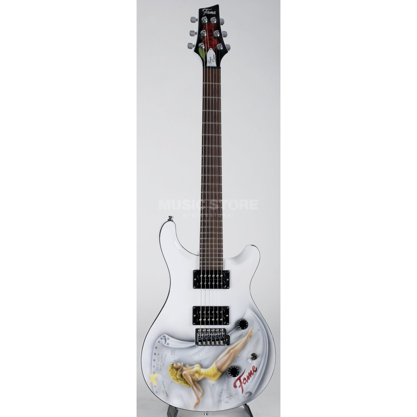 Fame CS Forum III Airbrush Girl White Produktbillede