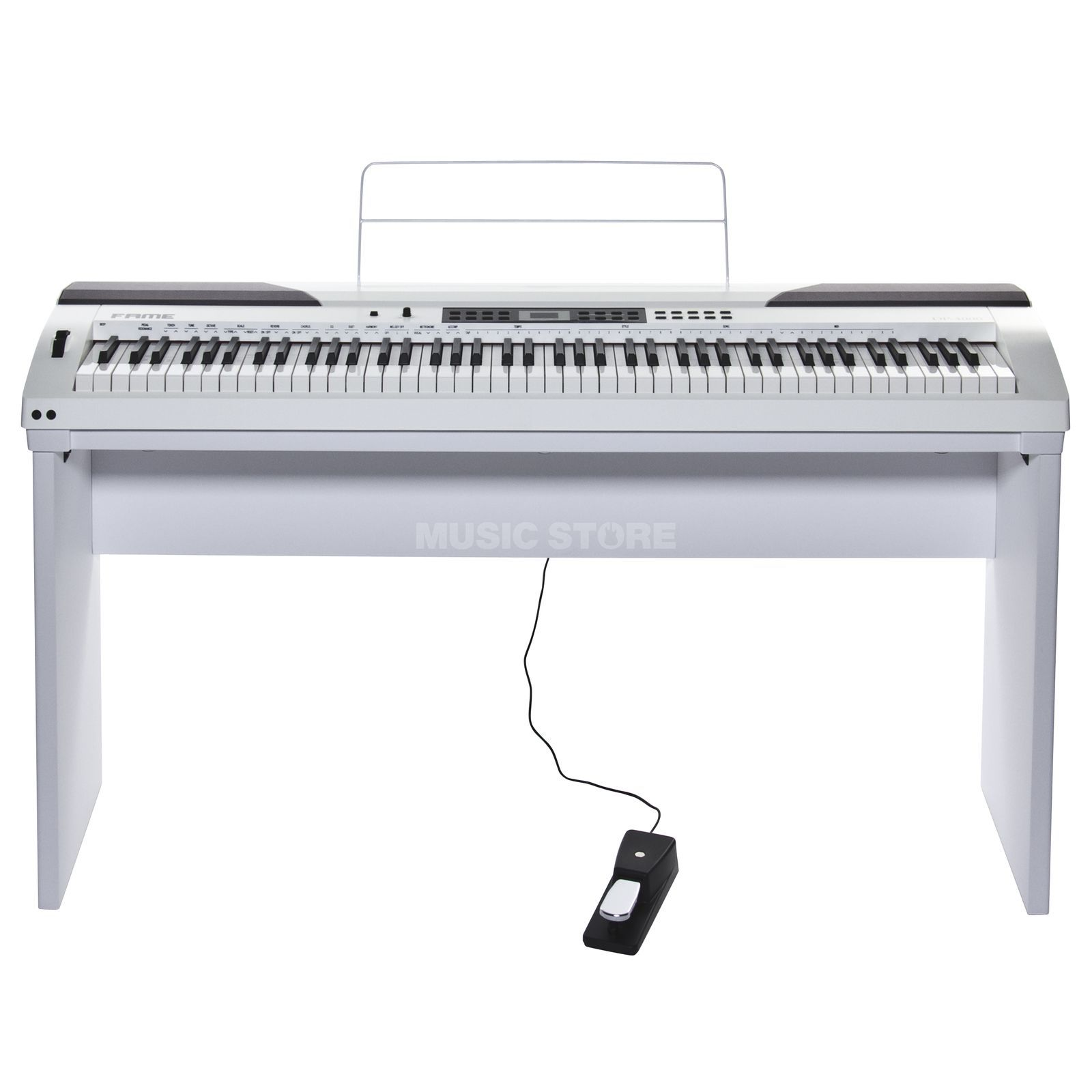 Fame DP-4000 WH Digital-Piano Set incl. stand Produktbillede