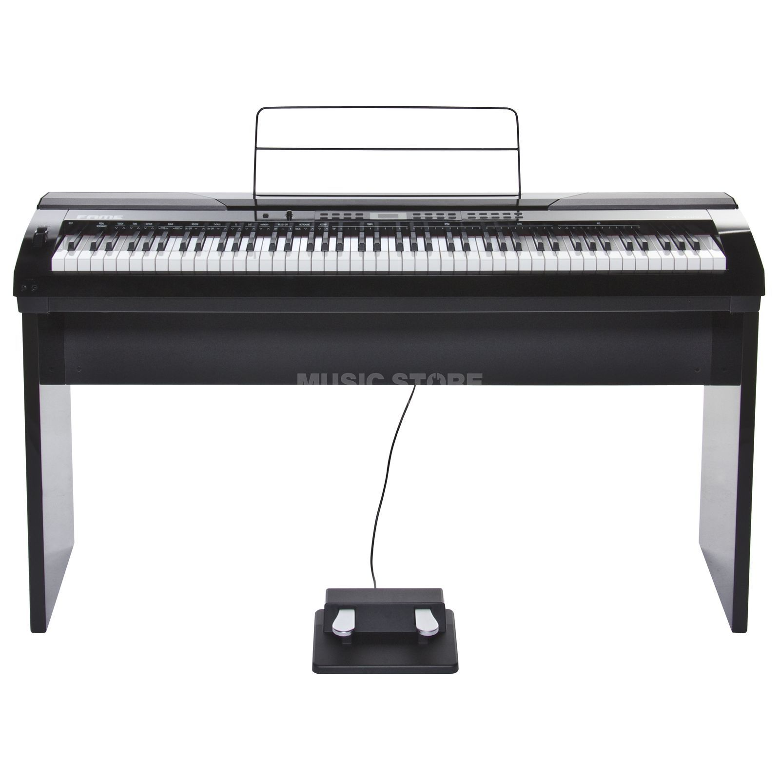 Fame DP-4000 WH Digital-Piano Set Matte White incl. Stand Produktbillede