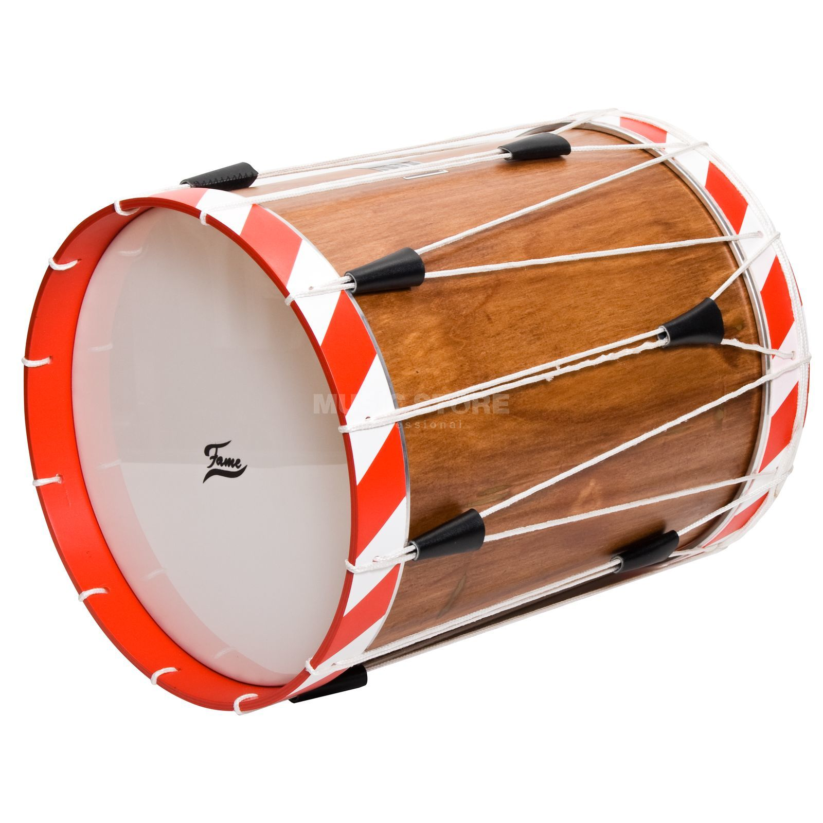 "Fame Field Drum FL149 14""x19"", red - white stripes Produktbillede"