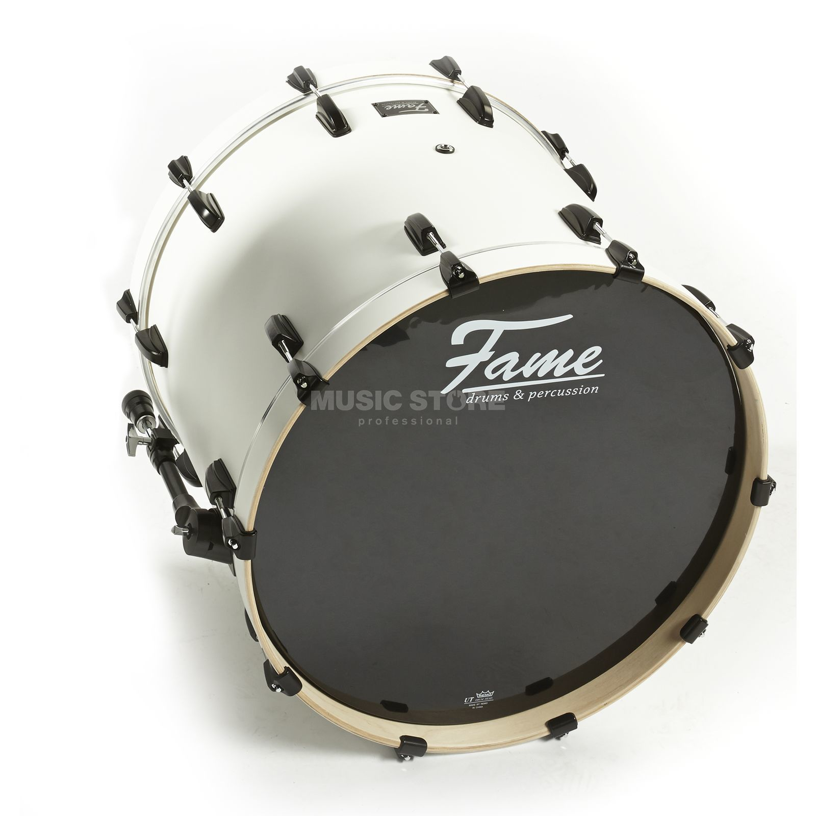 "Fame Fire BassDrum 18""x16"", #Matte White 308A Product Image"