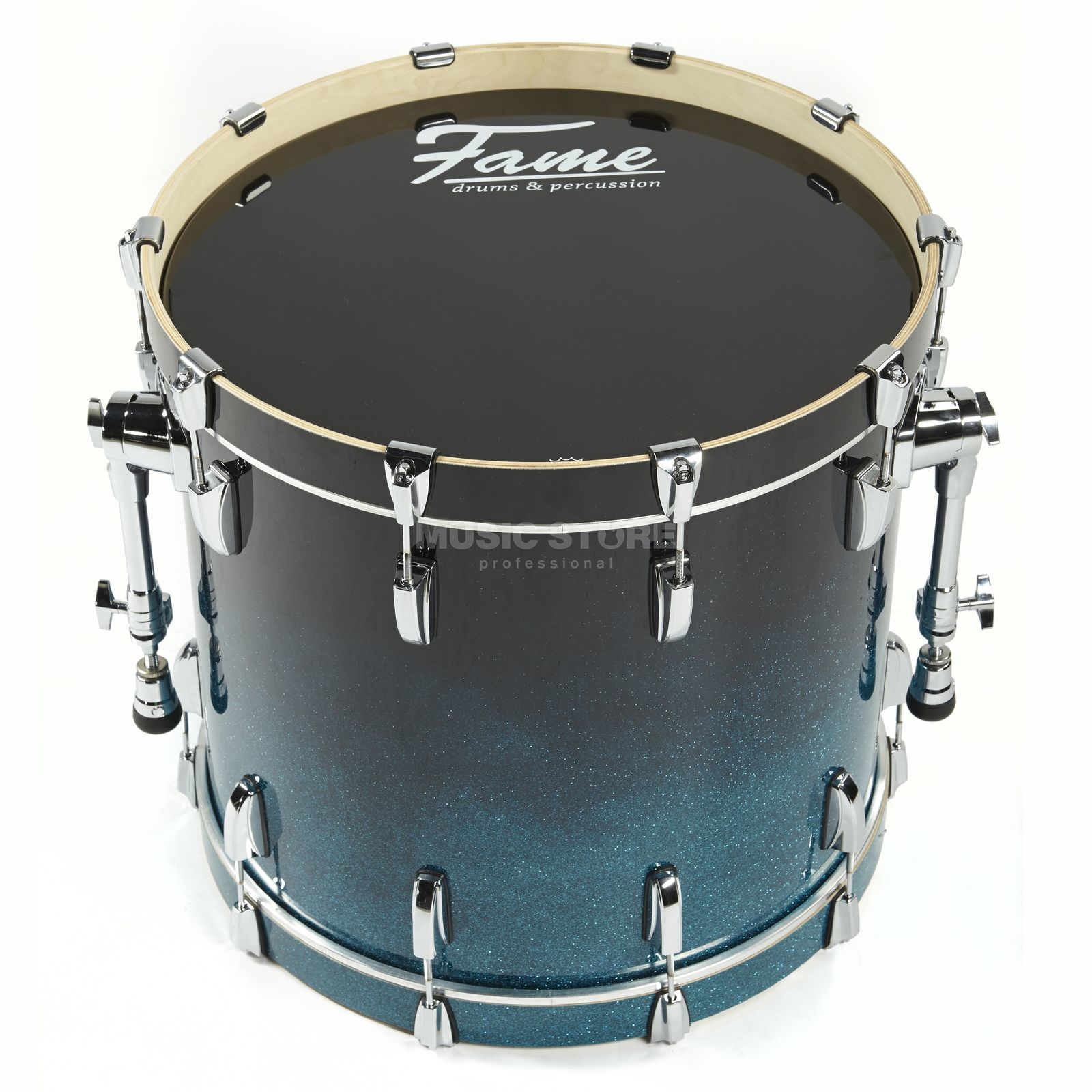 "Fame Fire BassDrum 22""x18"", #Blue Fade Sparkle Product Image"