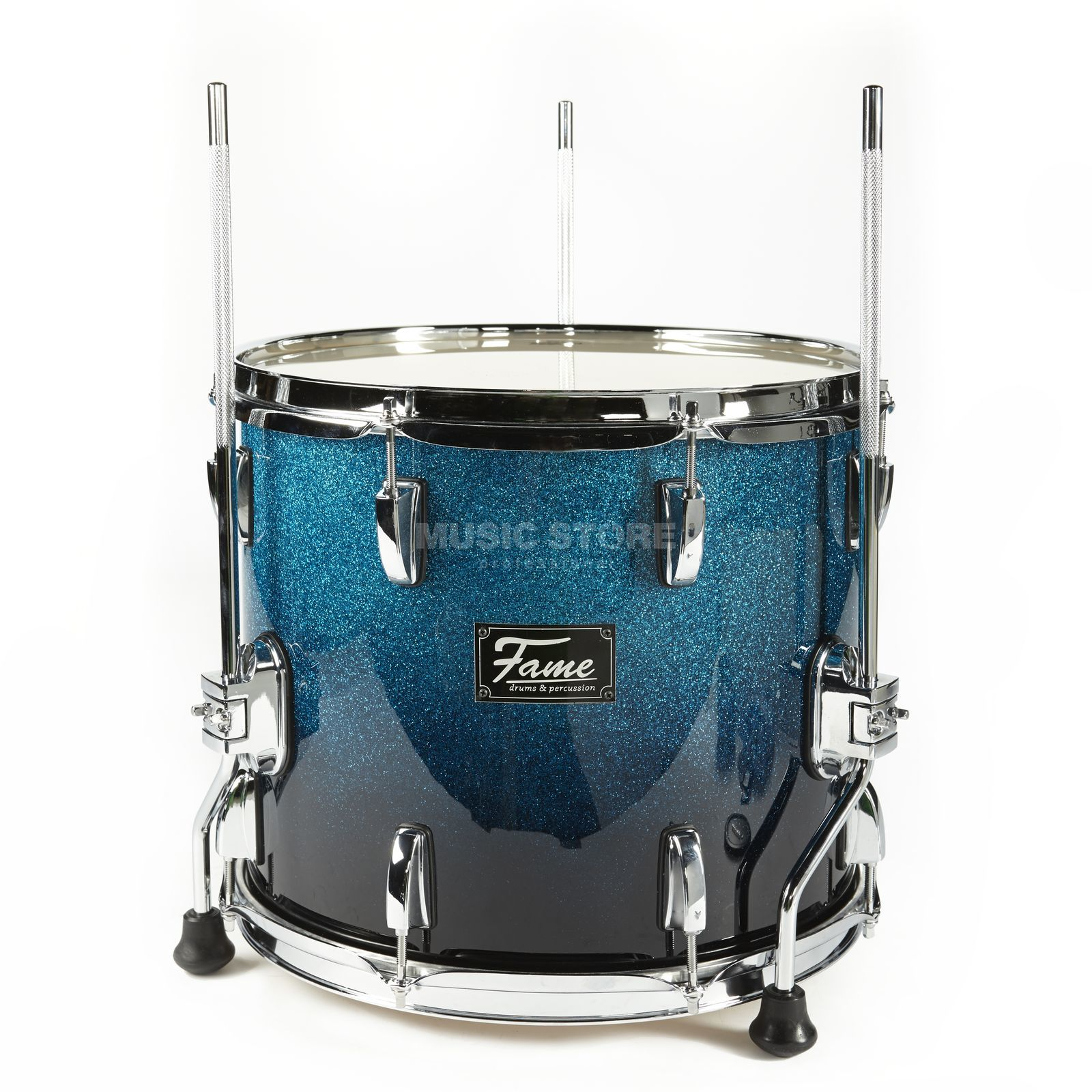 "Fame Fire FloorTom 14""x12"", #Blue Fade Sparkle Product Image"