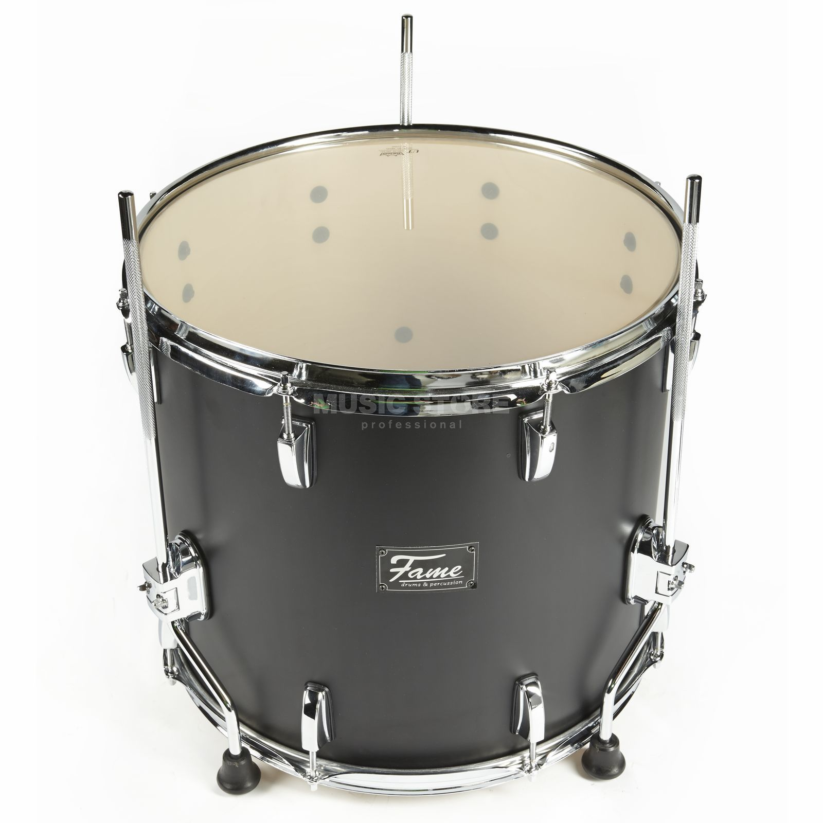 "Fame Fire FloorTom 14""x12"", #Matte Black 301A Product Image"