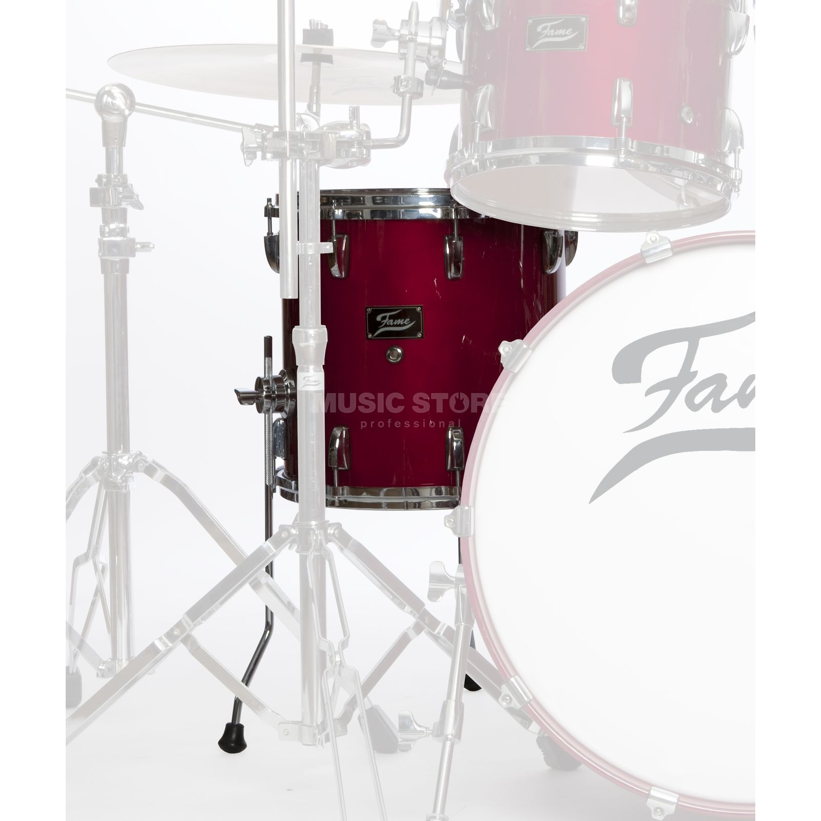 "Fame FMP FloorTom 16""x16"", #Cherry rood Productafbeelding"