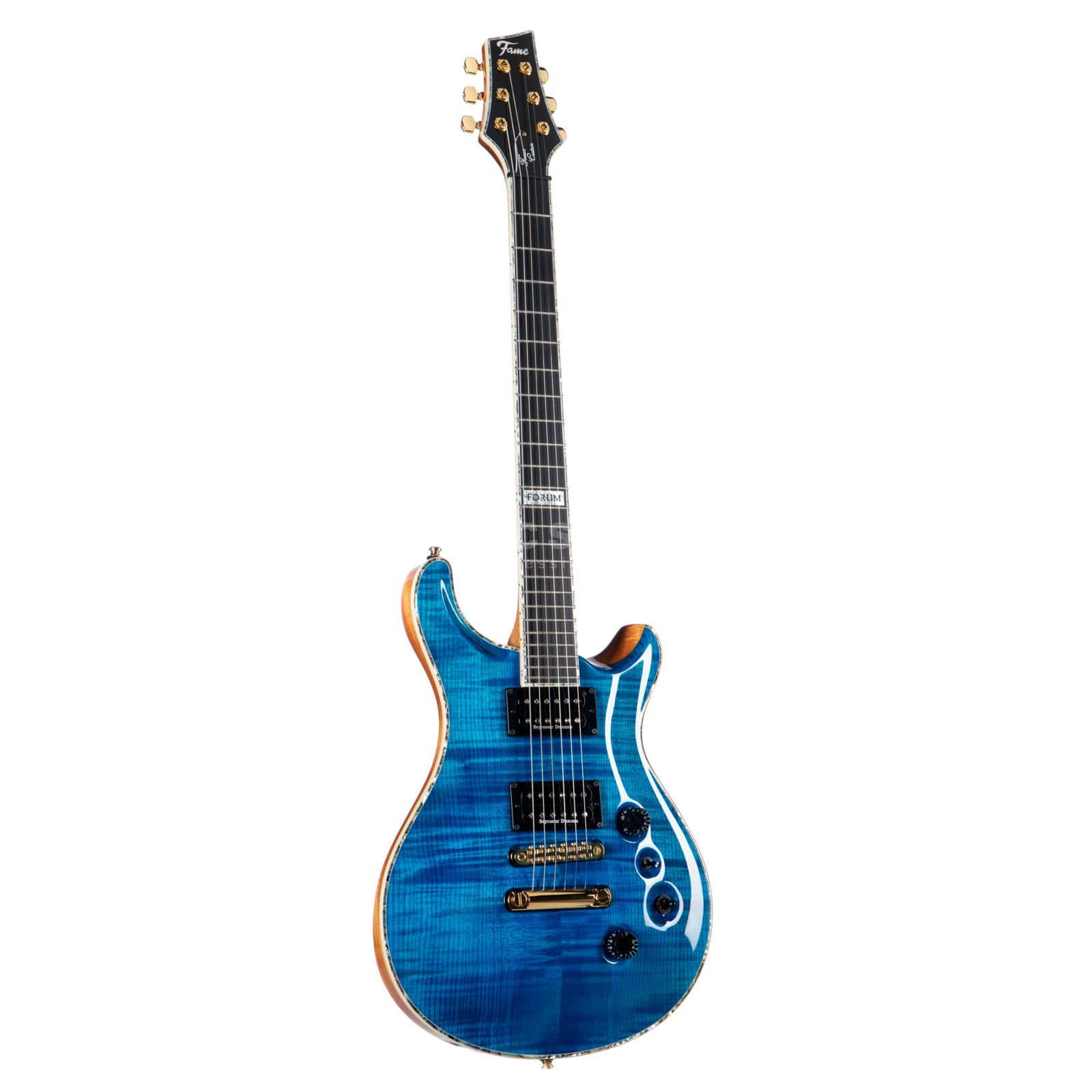 Fame Forum Custom Maple Top TBL Transparent Blue Produktbillede