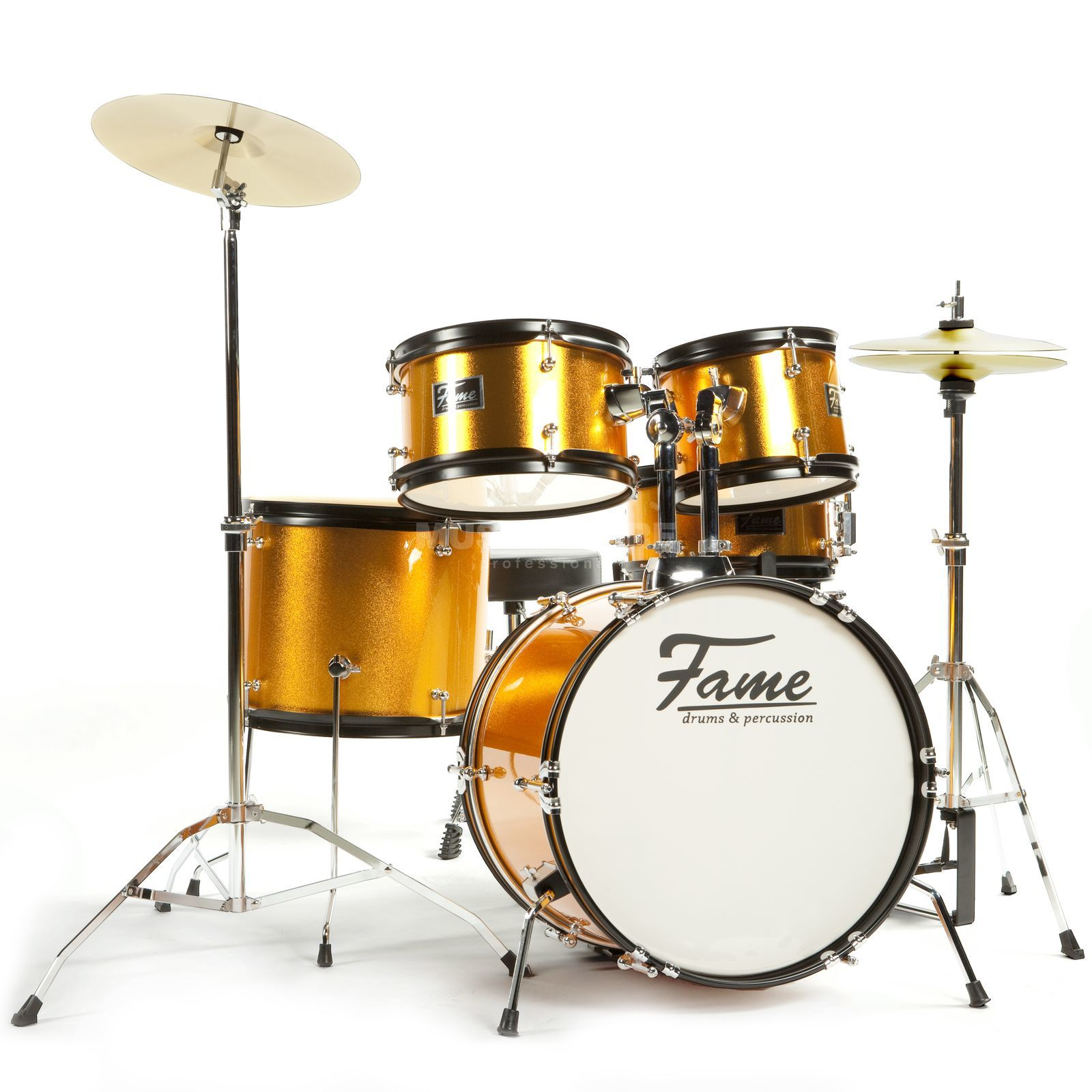 "Fame Kiddyset 5 PC Junior Drumset ""Elias"", Orange Produktbillede"