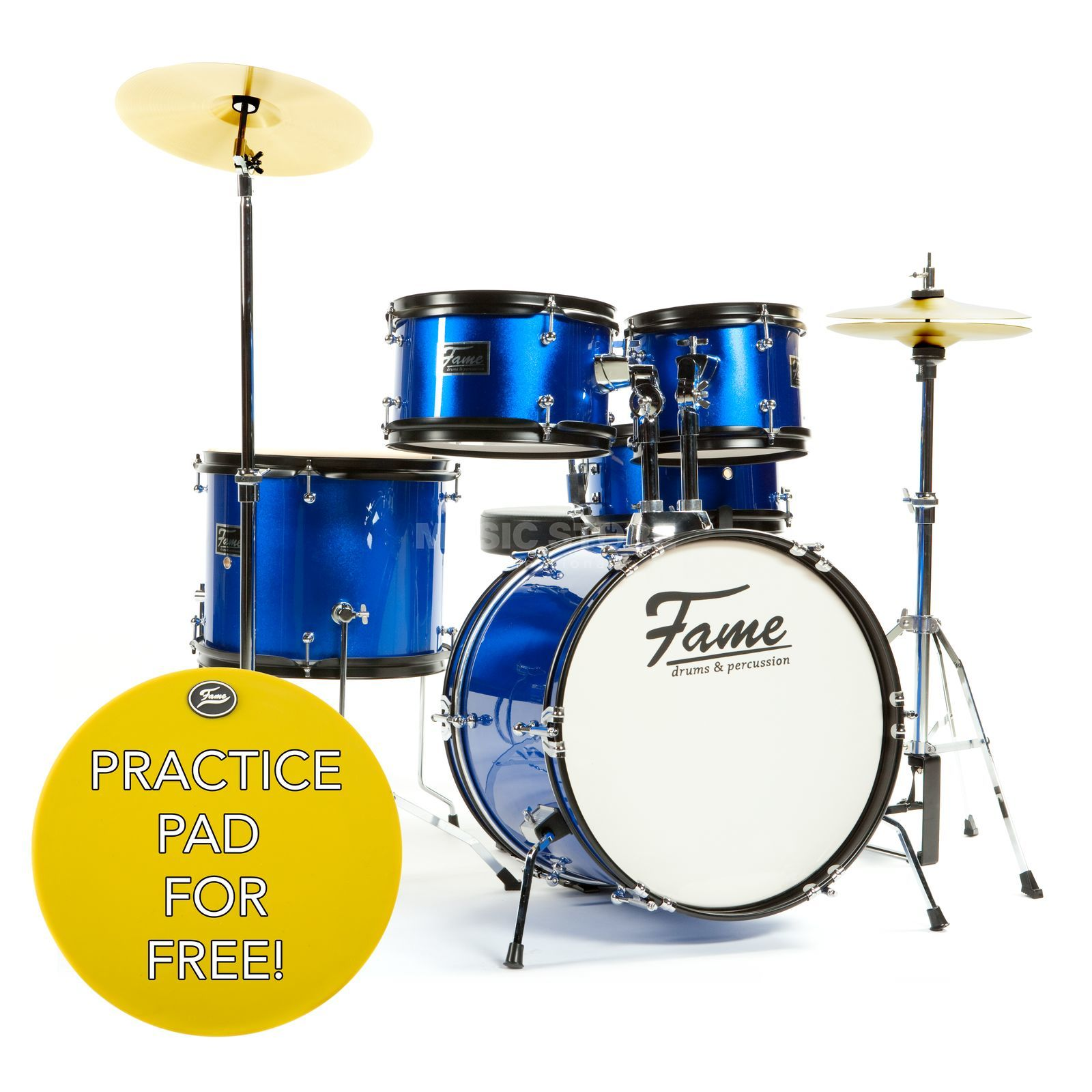 "Fame Kiddyset 5 PC Junior Drumset ""Elias"" Schlagzeug #Blue Produktbild"