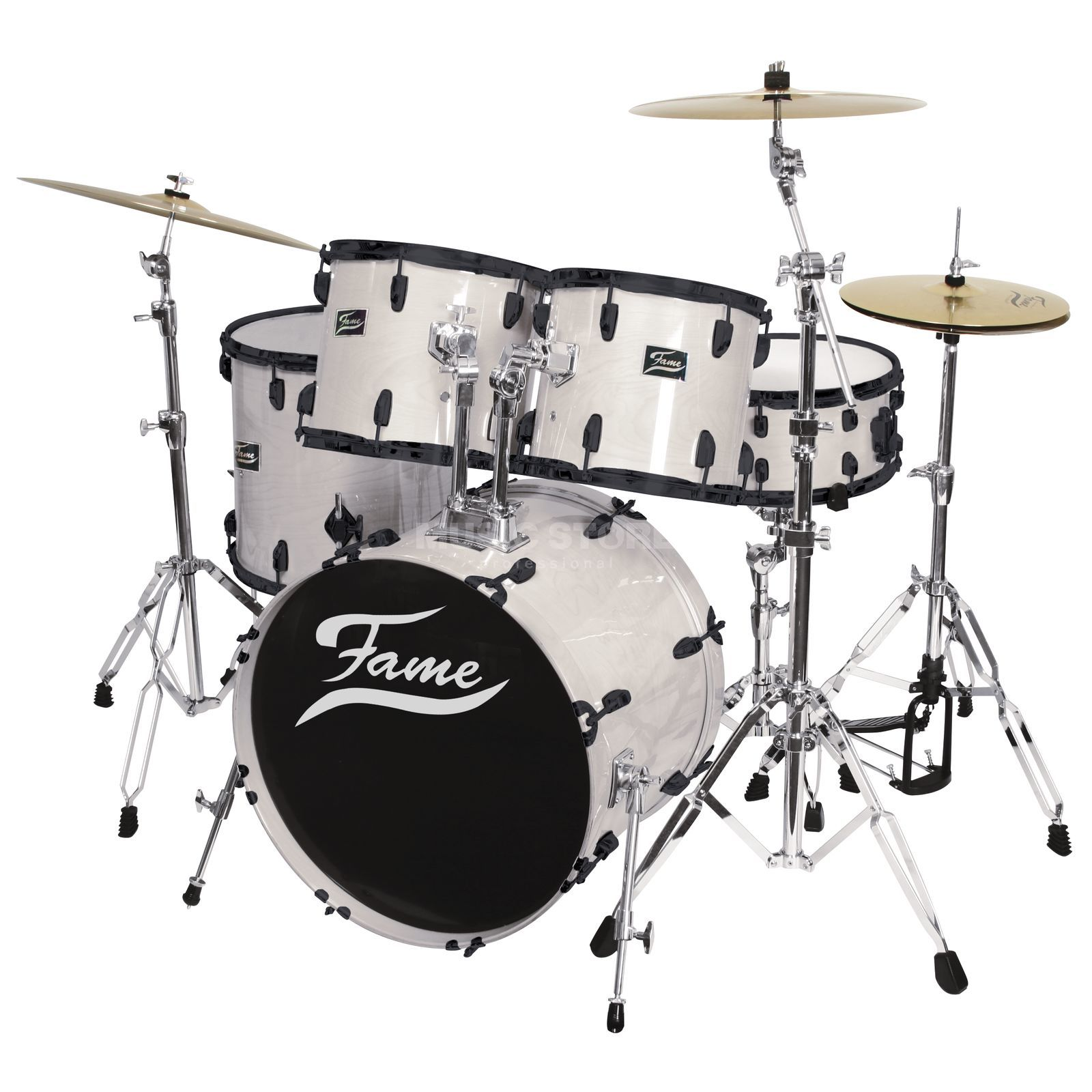 Fame Maple Standard Set 5201, #White Laquer, Black HW Produktbillede