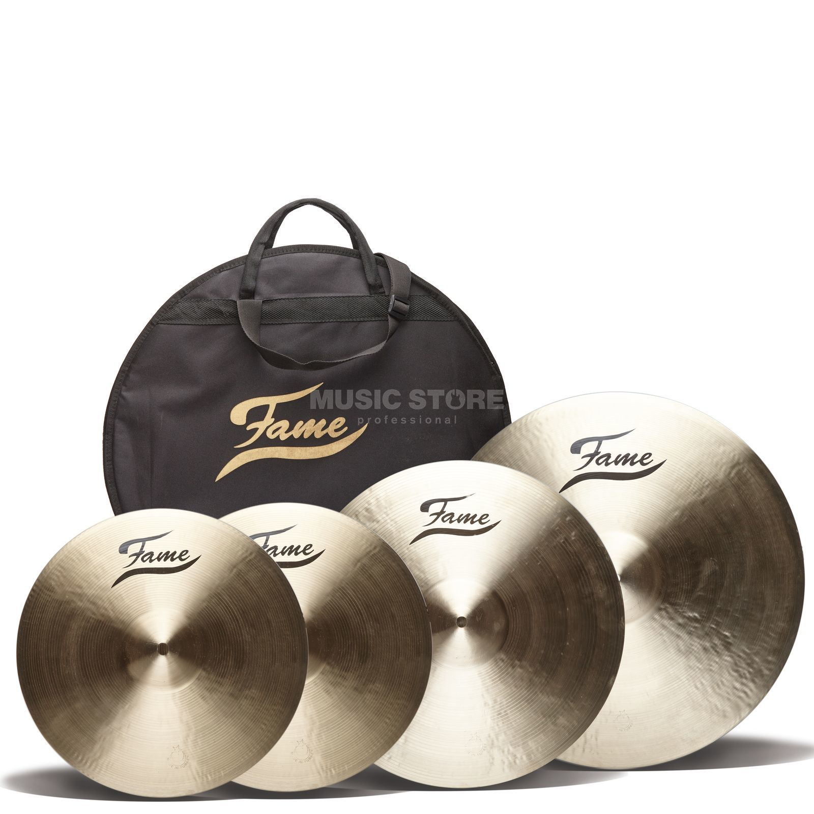 Fame Masters B20 Cymbal Set I, Natural Finish Productafbeelding