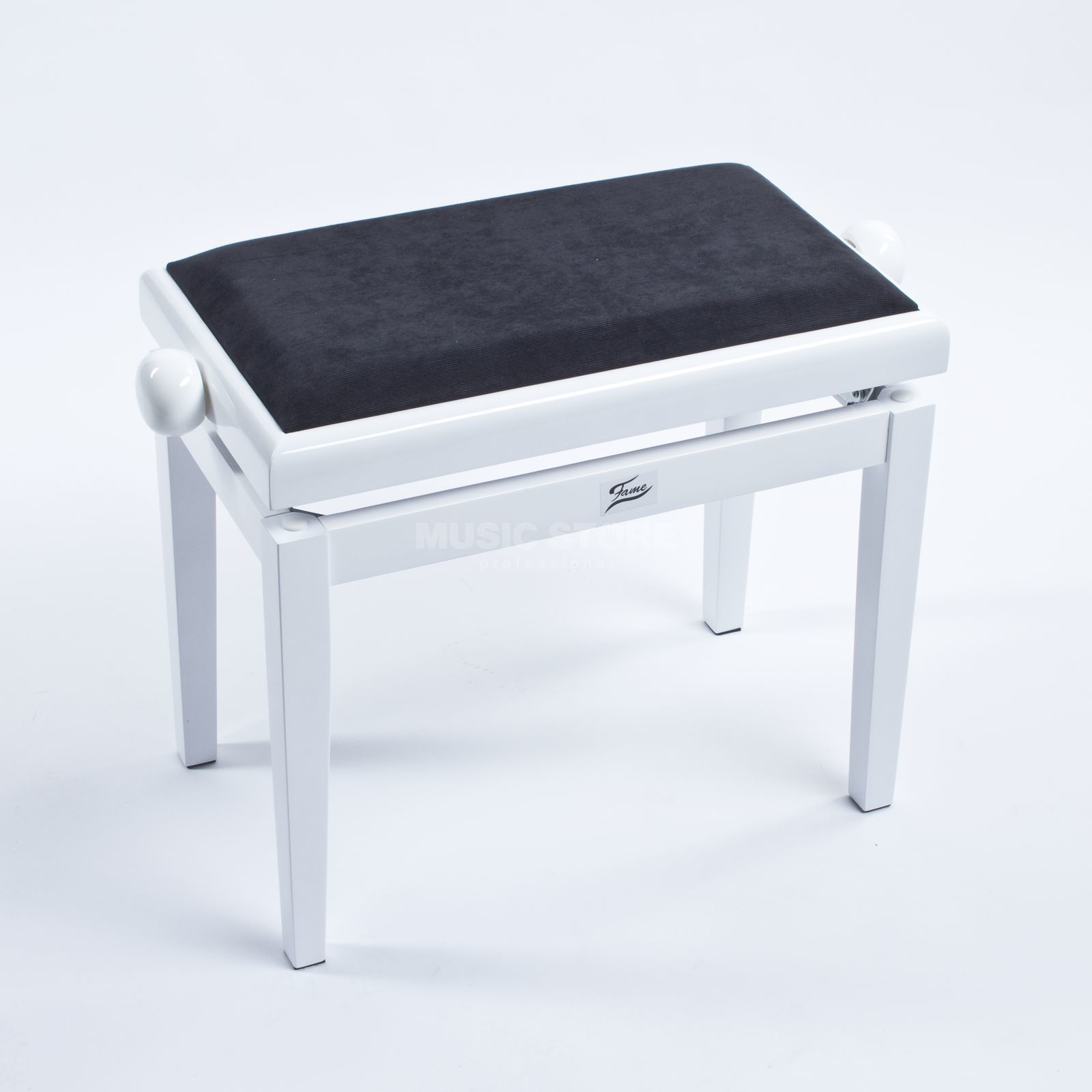 Fame Piano Bench white polished  Product Image