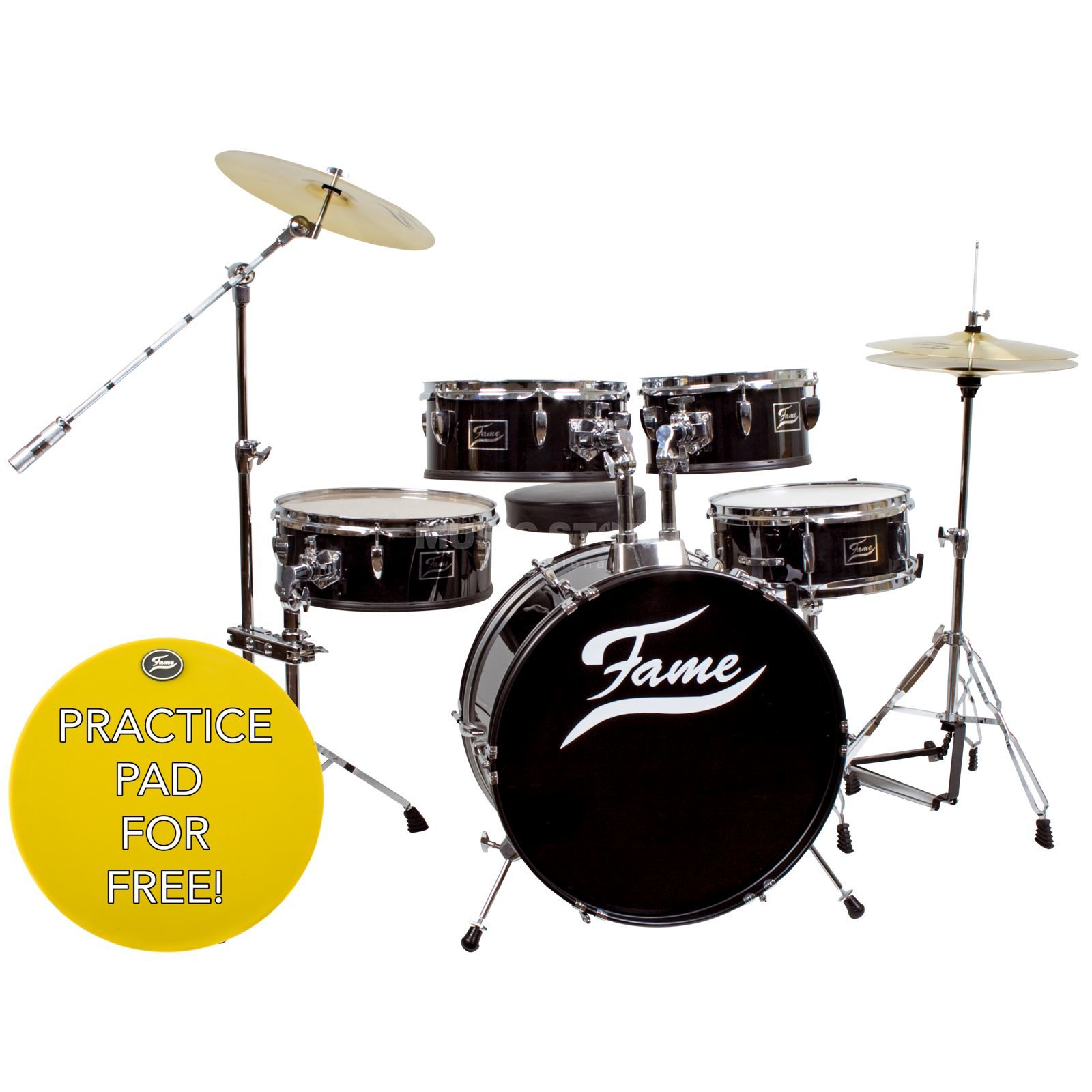 Fame Practice Set incl. Cymbals & kruk Productafbeelding