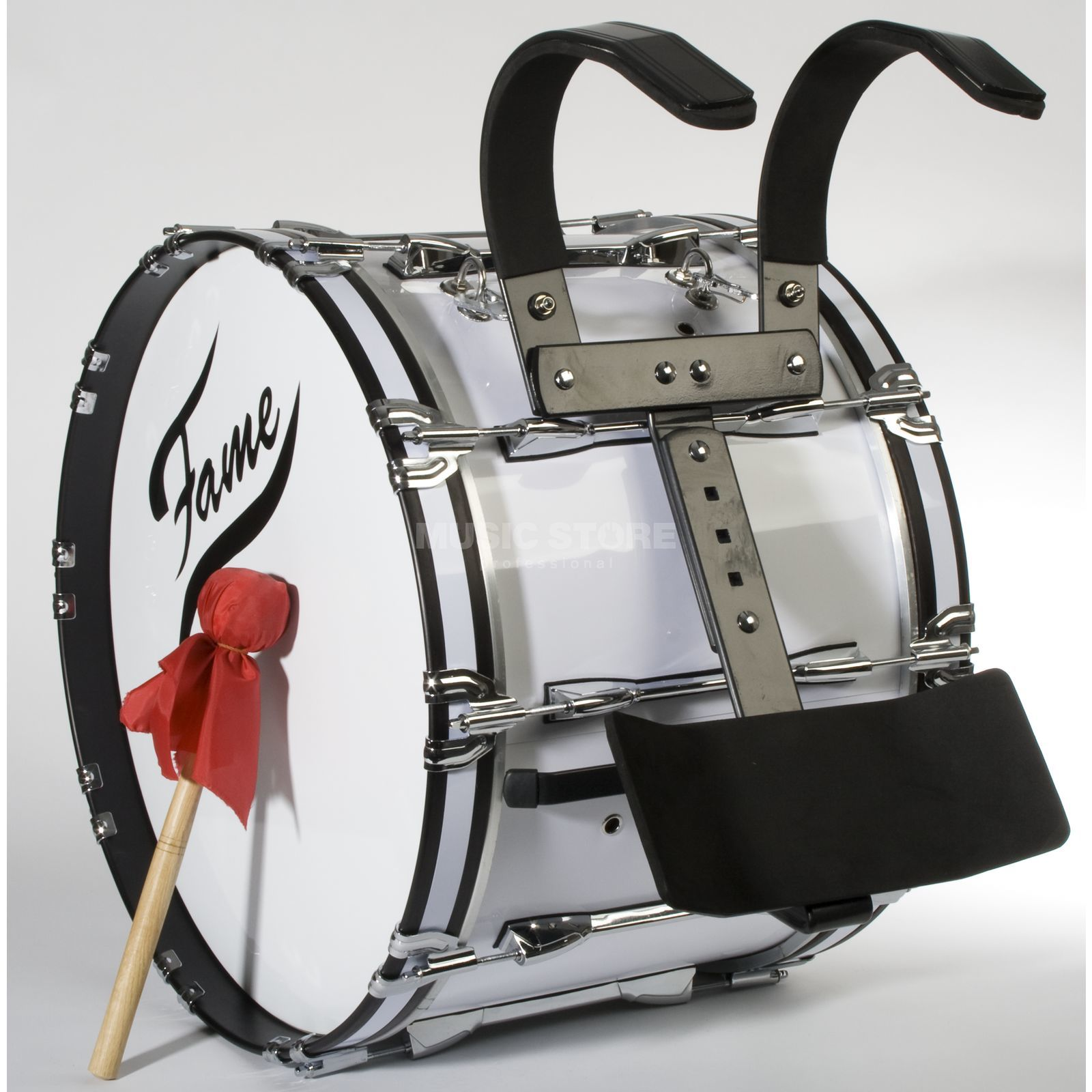 "Fame Professional Marching BassDrum 22""x14"", Birch, + Carrier Produktbillede"