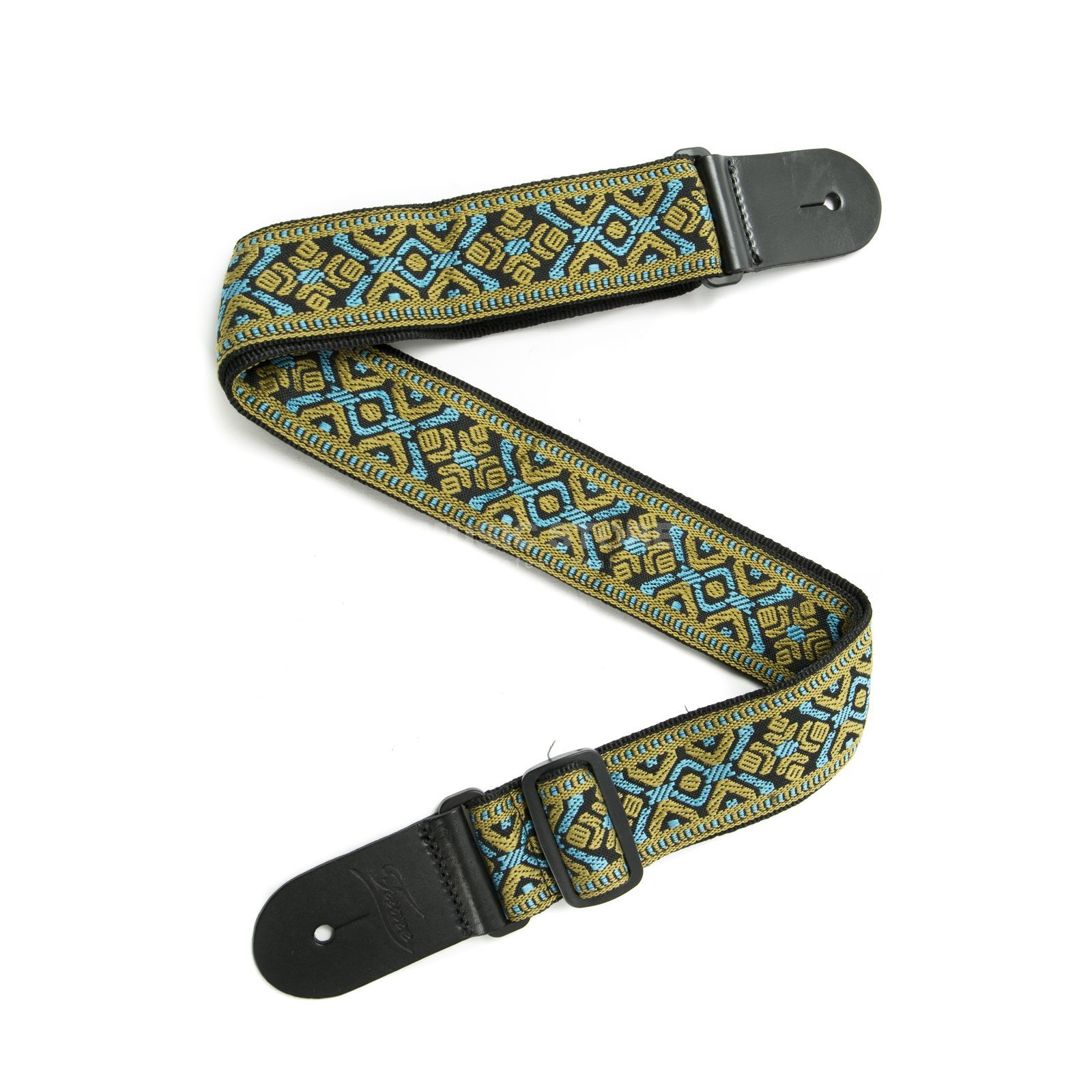 Fame Weave Series Baroque Pattern 3 Blue/Gold Productafbeelding