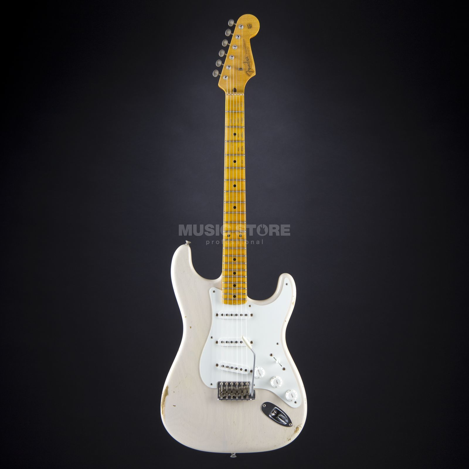 Fender 1955 Relic Stratocaster Dirty White Blonde #CZ520102 Produktbillede