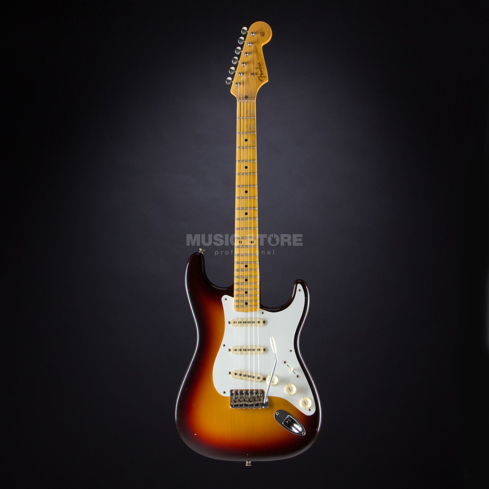 Fender 1958 Journeyman Relic Stratocaster Chocolate 3-Color Sunburst #CZ525642 Product Image