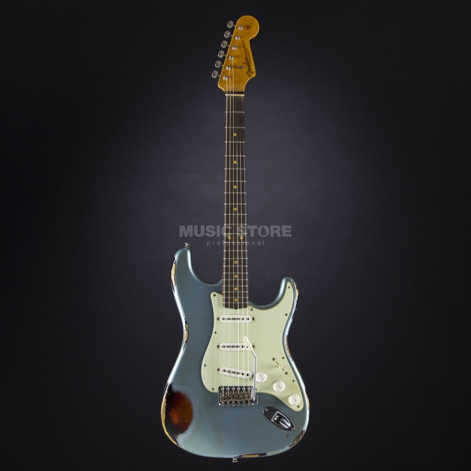 Fender 1962 Heavy Relic Stratocaster Ice Blue Metallic over 3-Tone Sunburst #R80269 Produktbillede