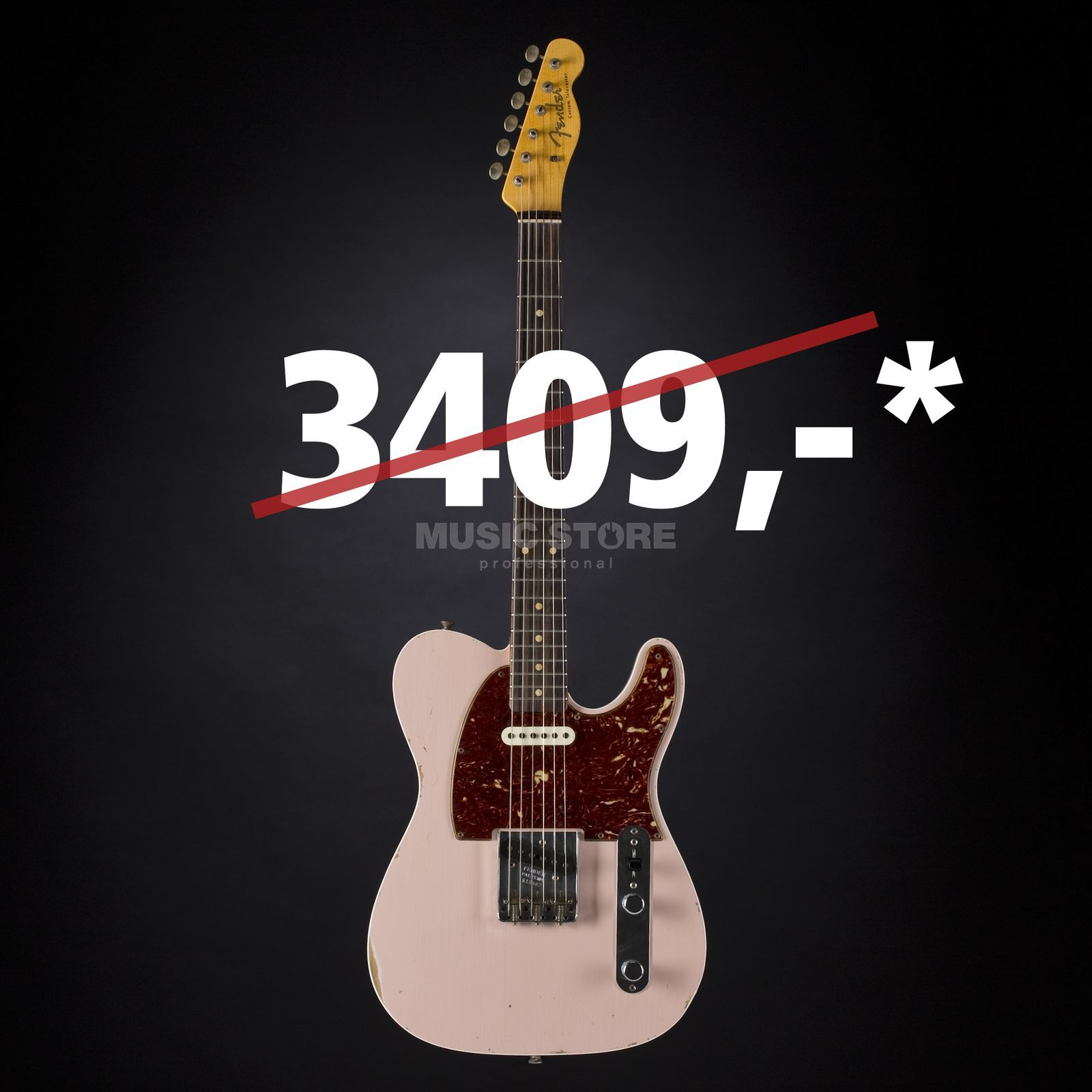 Fender '60s Relic Telecaster Custom Shell Pink #R15307 Product Image
