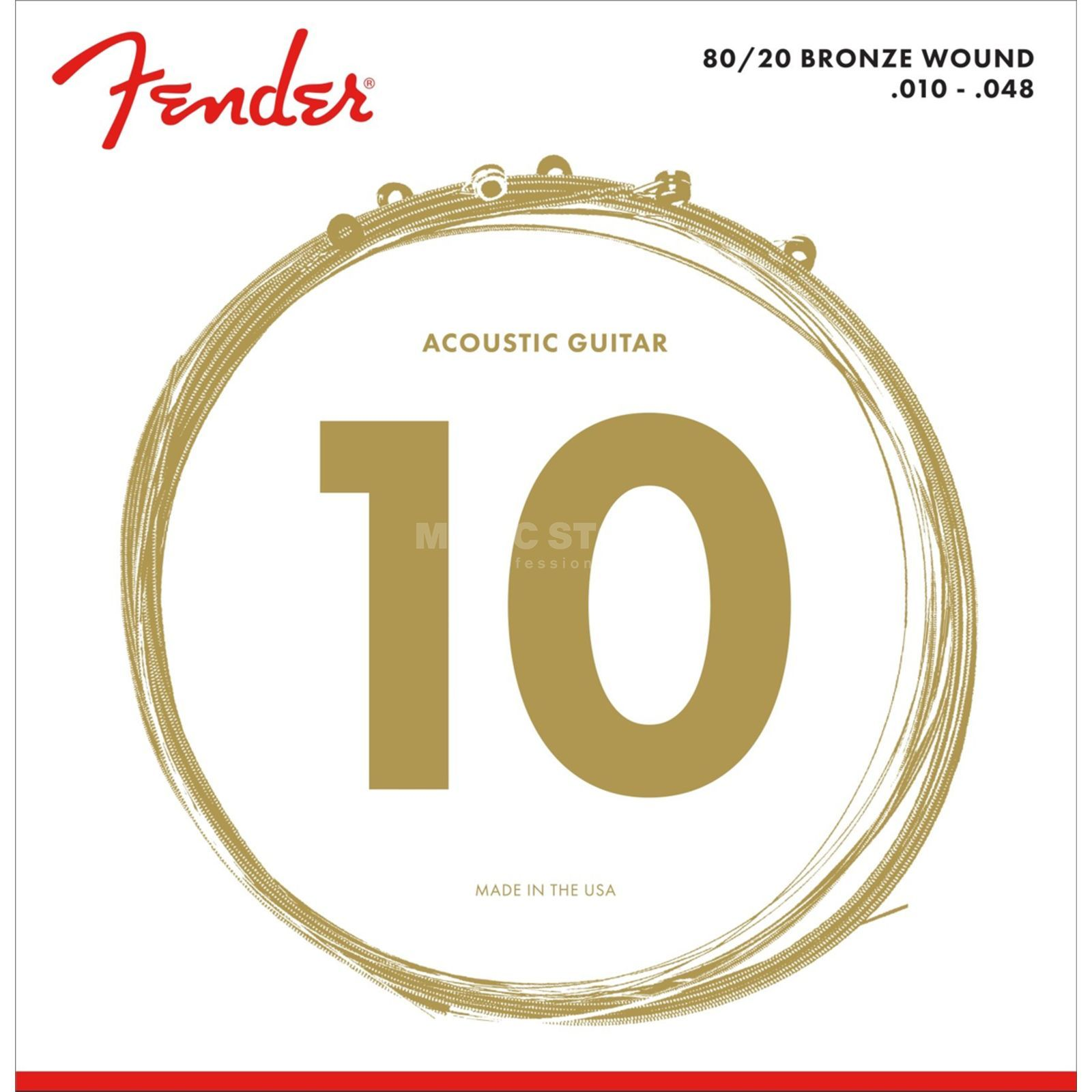 Fender 80/20 Bronze 70XL Acoustic Gui tar Strings   Produktbillede