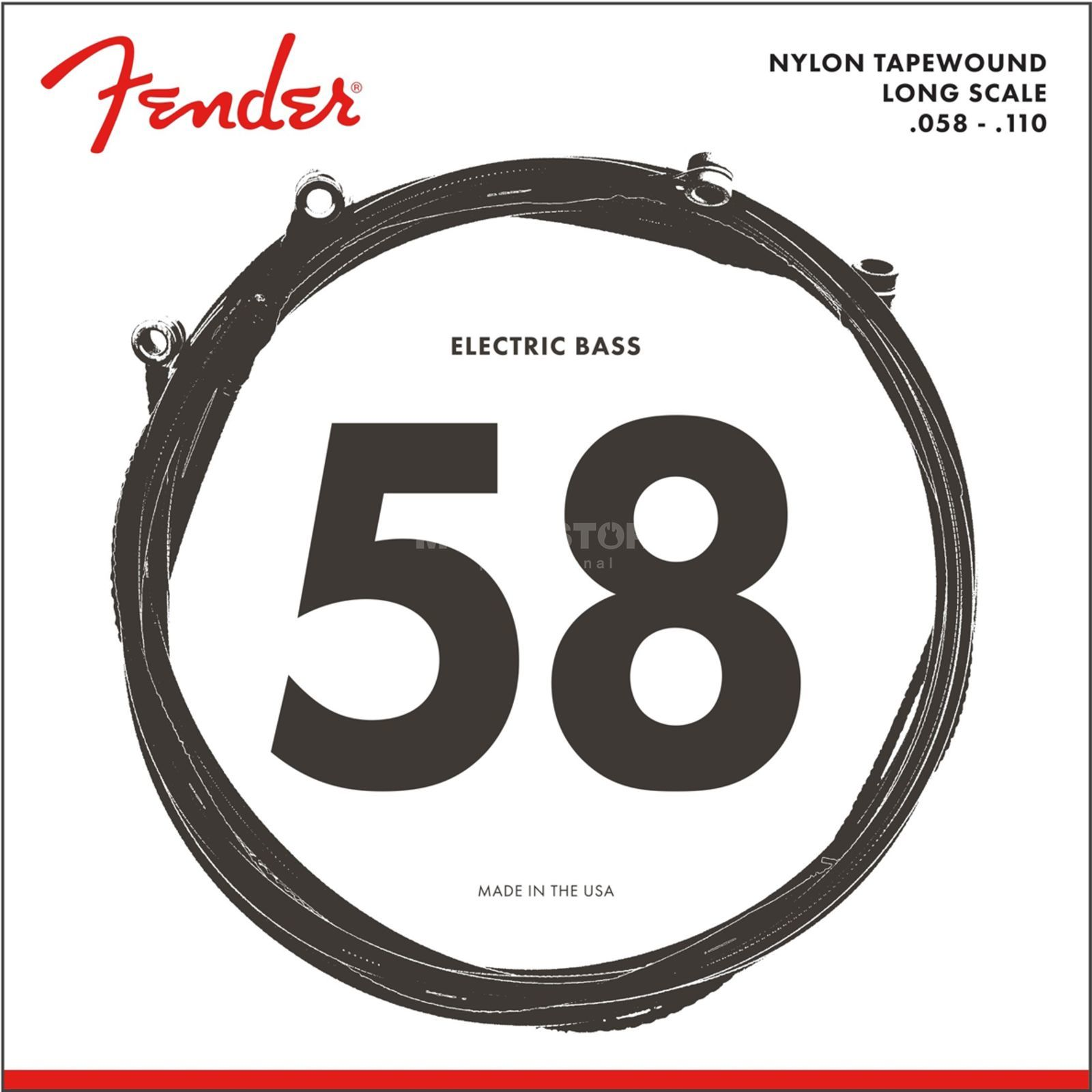 Fender 9120 Nylon Tapewound Bass Strings 58-110 Produktbild