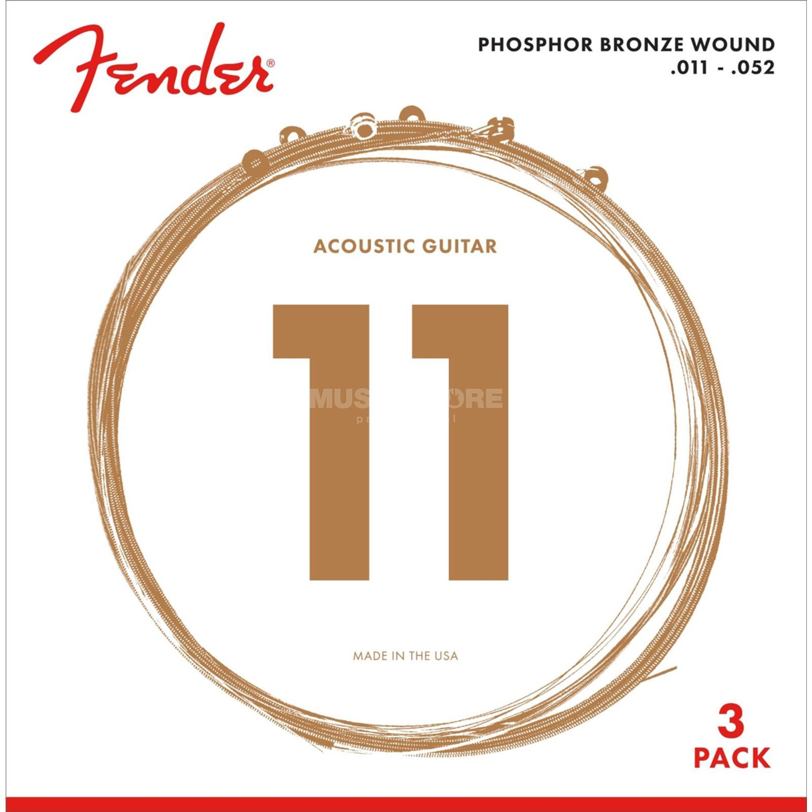 Fender A-Git. Saiten 60CL 11-52 3-Pack Phosphor Bronze Product Image