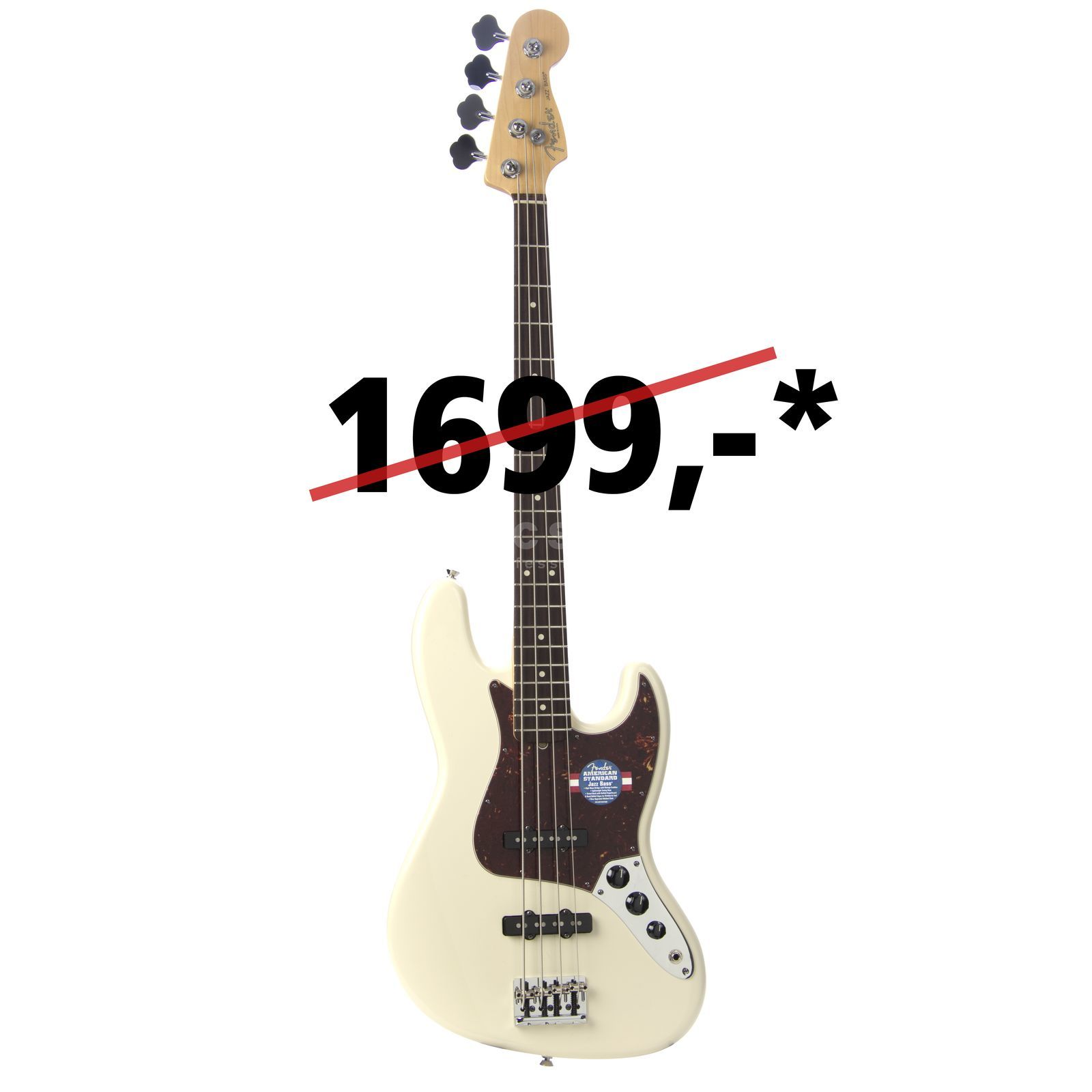 Fender Am. Std. J-Bass RW OW Olympic White Product Image