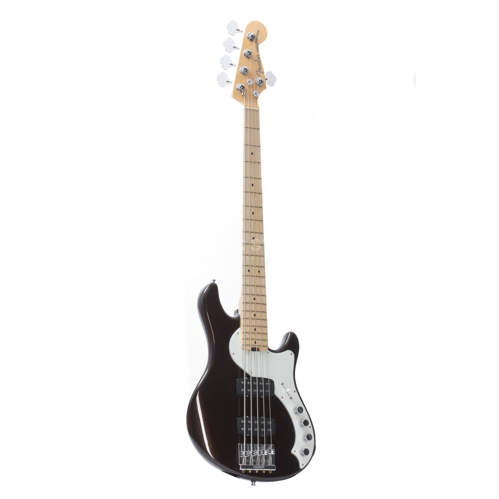 Fender American Deluxe Dimension Bass V HH MN Root Beer Produktbild