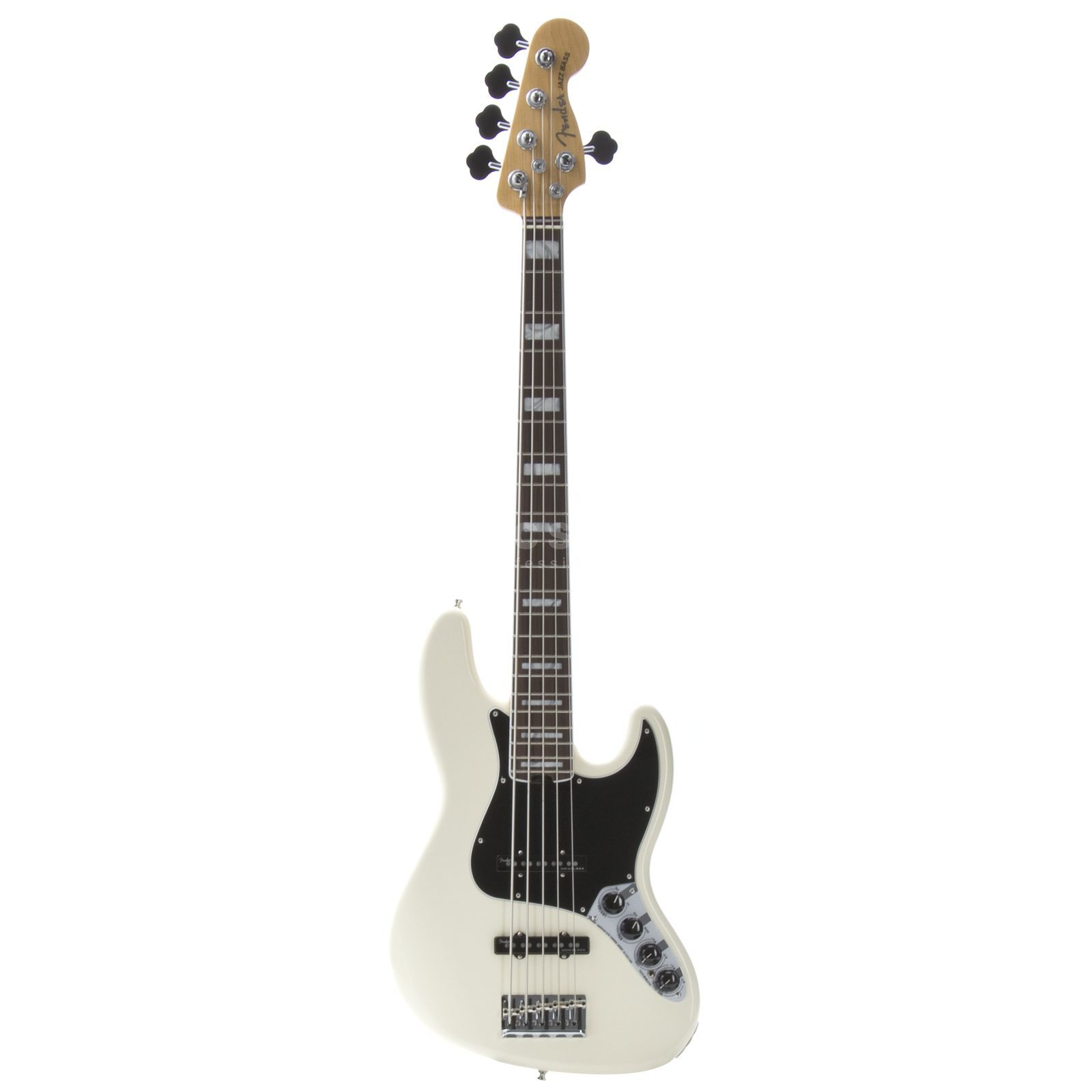 Fender American Elite Jazz Bass V RW Olympic White Produktbild