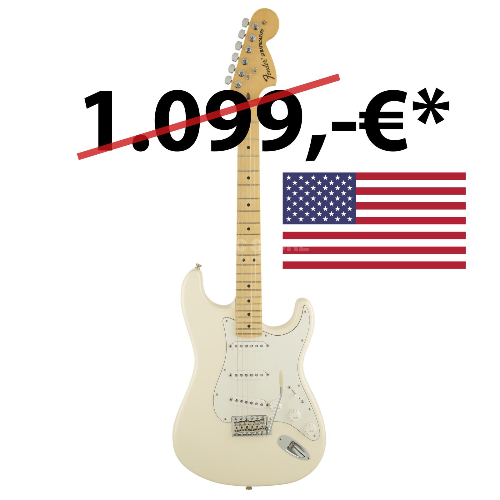 Fender American Special Stratocaster MN OWT Olympic White Produktbild