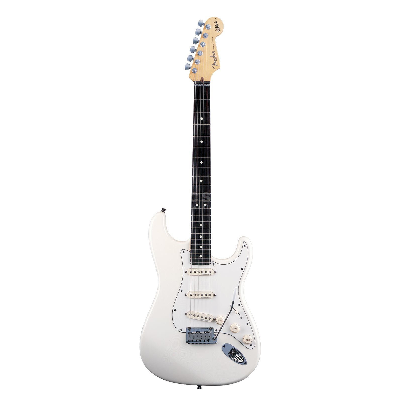 Fender AS Jeff Beck Strat RW OWT Olympic White Produktbild