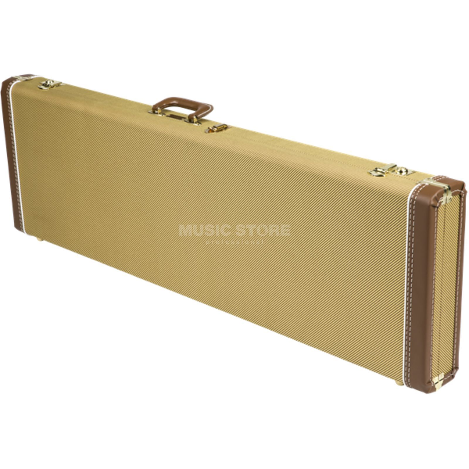 Fender Case MultiFit Hardshell P-Bass Tweed with Red Poodle Plush Zdjęcie produktu