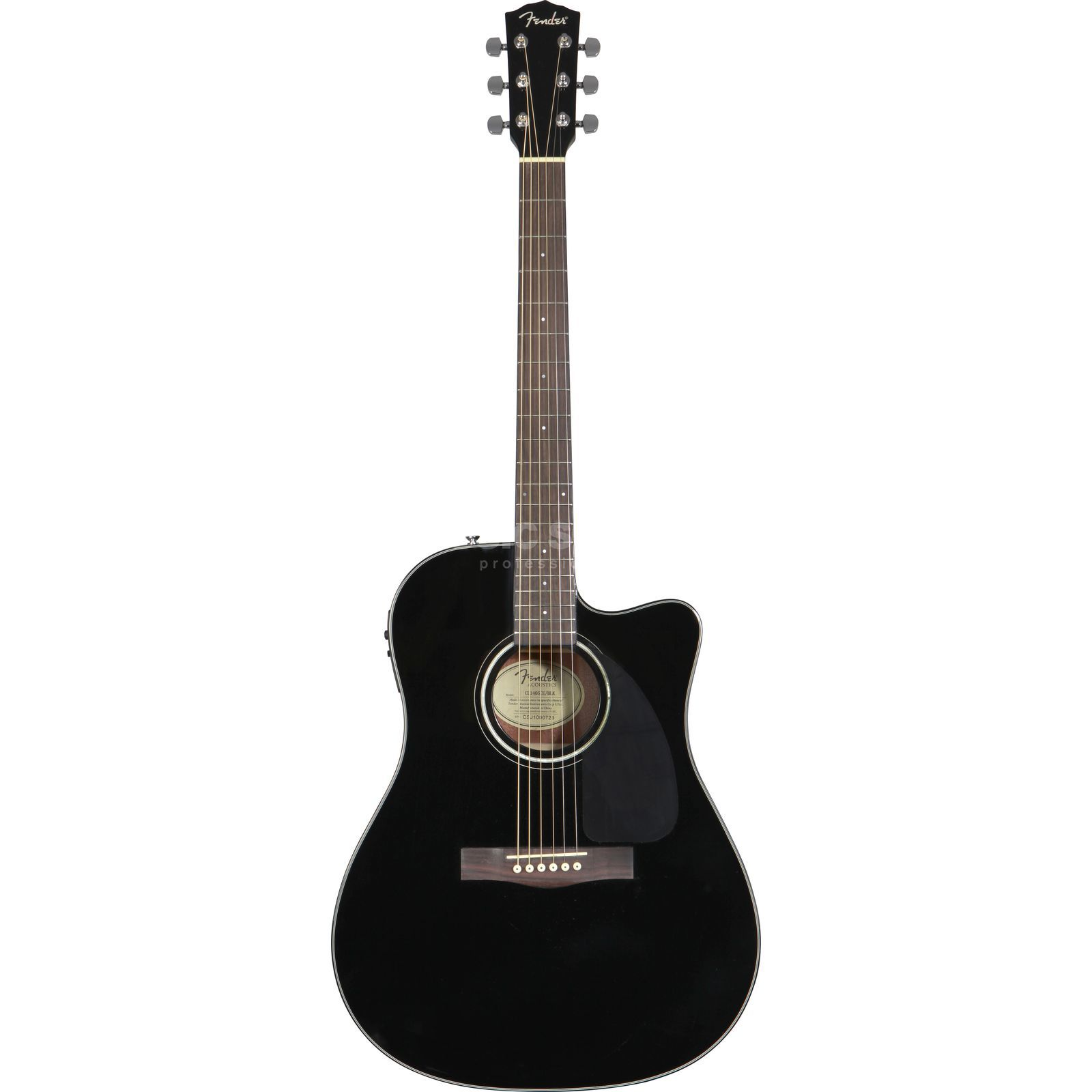 Fender CD-140SCE Black Satin Produktbillede