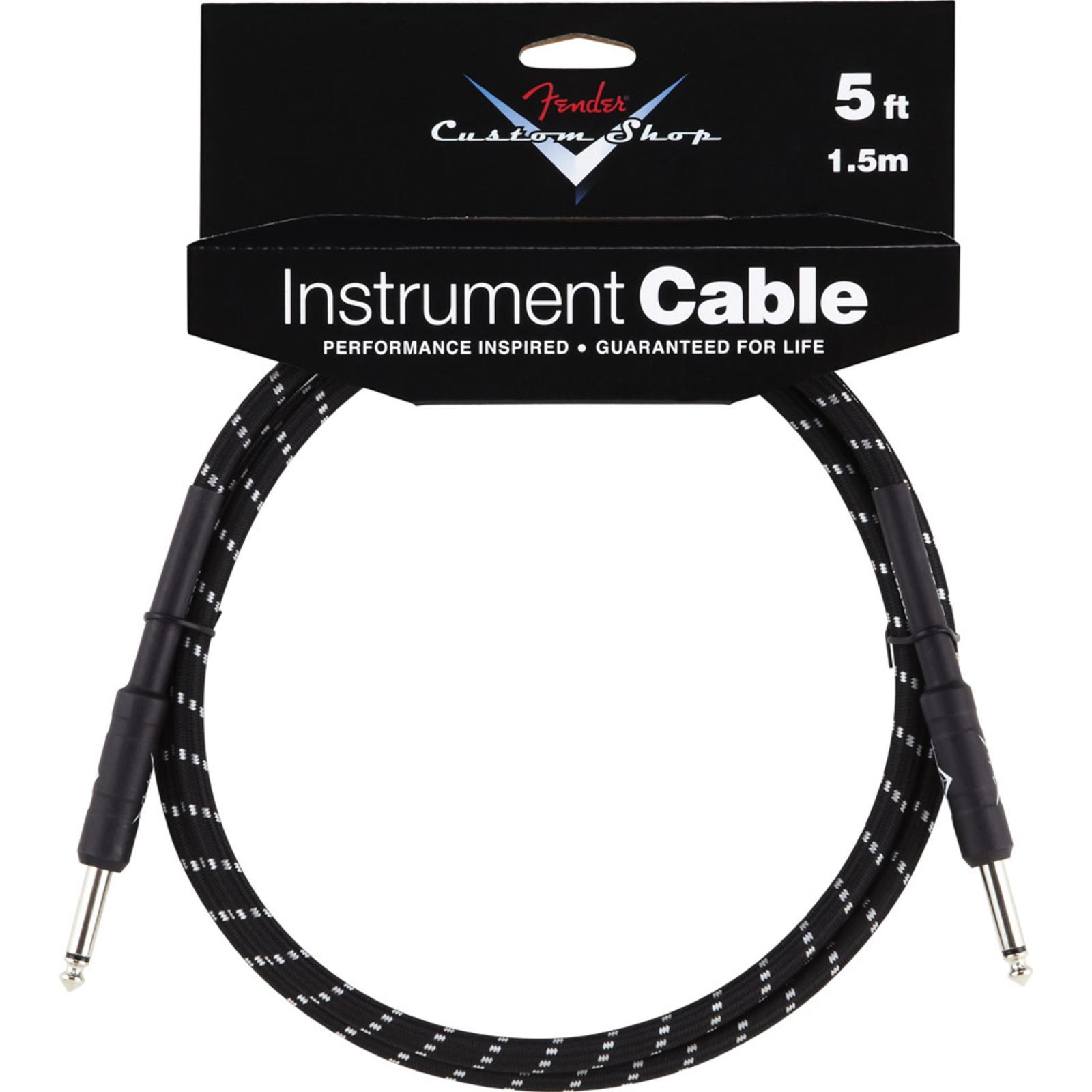 Fender Custom Shop Cable 1.5m BTW Black Tweed, Kli/Kli Produktbillede