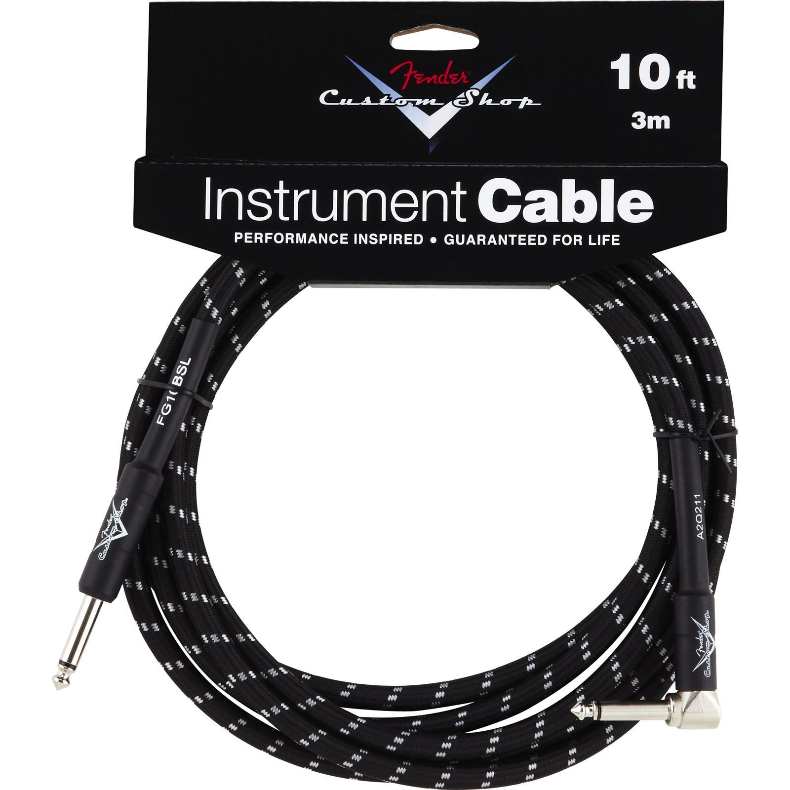 Fender Custom Shop Cable 3m BTW Black Tweed, Kli/WKli Produktbild