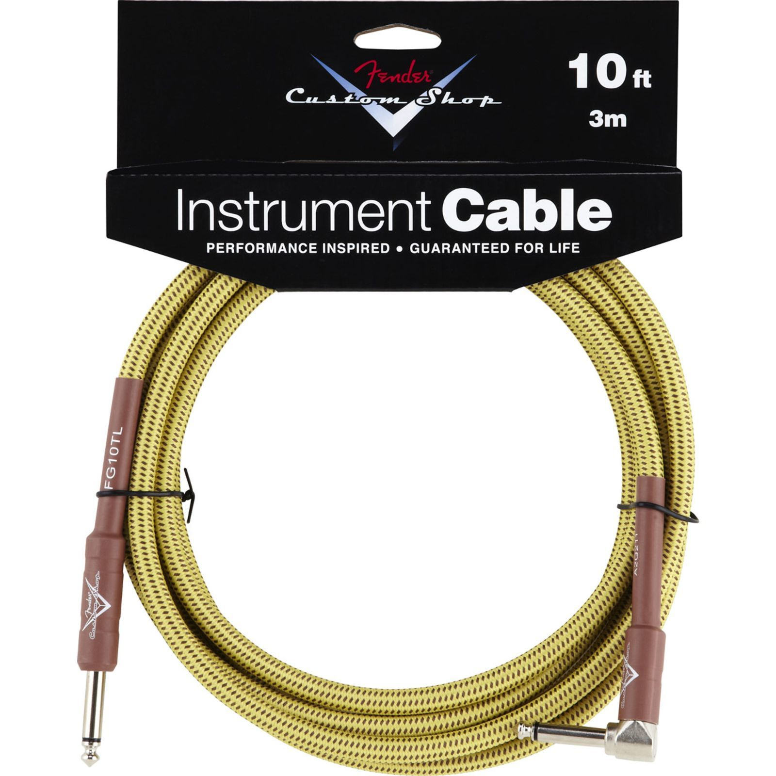 Fender Custom Shop Cable 3m TW Tweed, Kli/WKli Produktbillede