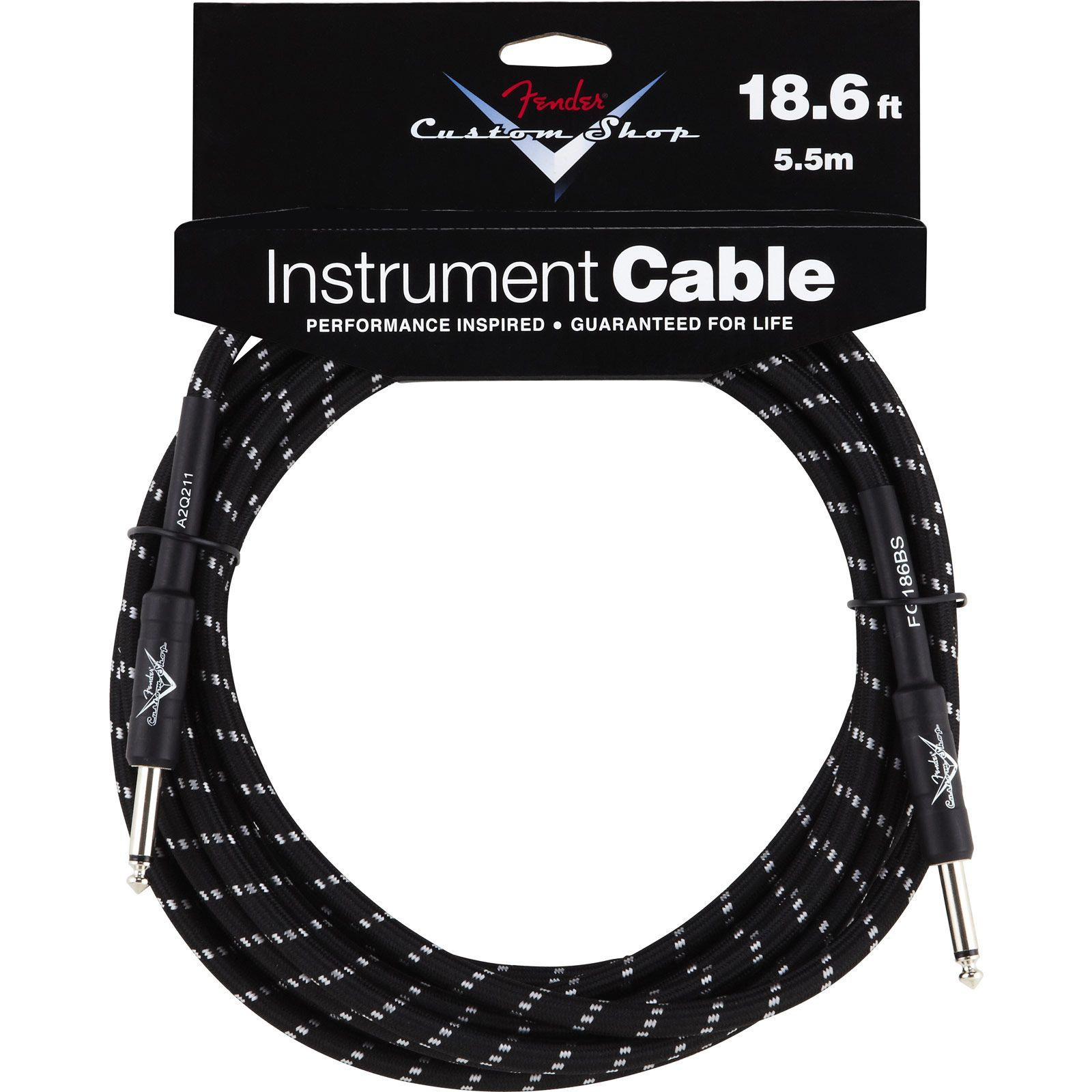 Fender Custom Shop Cable 5.5m BTW Black Tweed, Kli/Kli Produktbillede