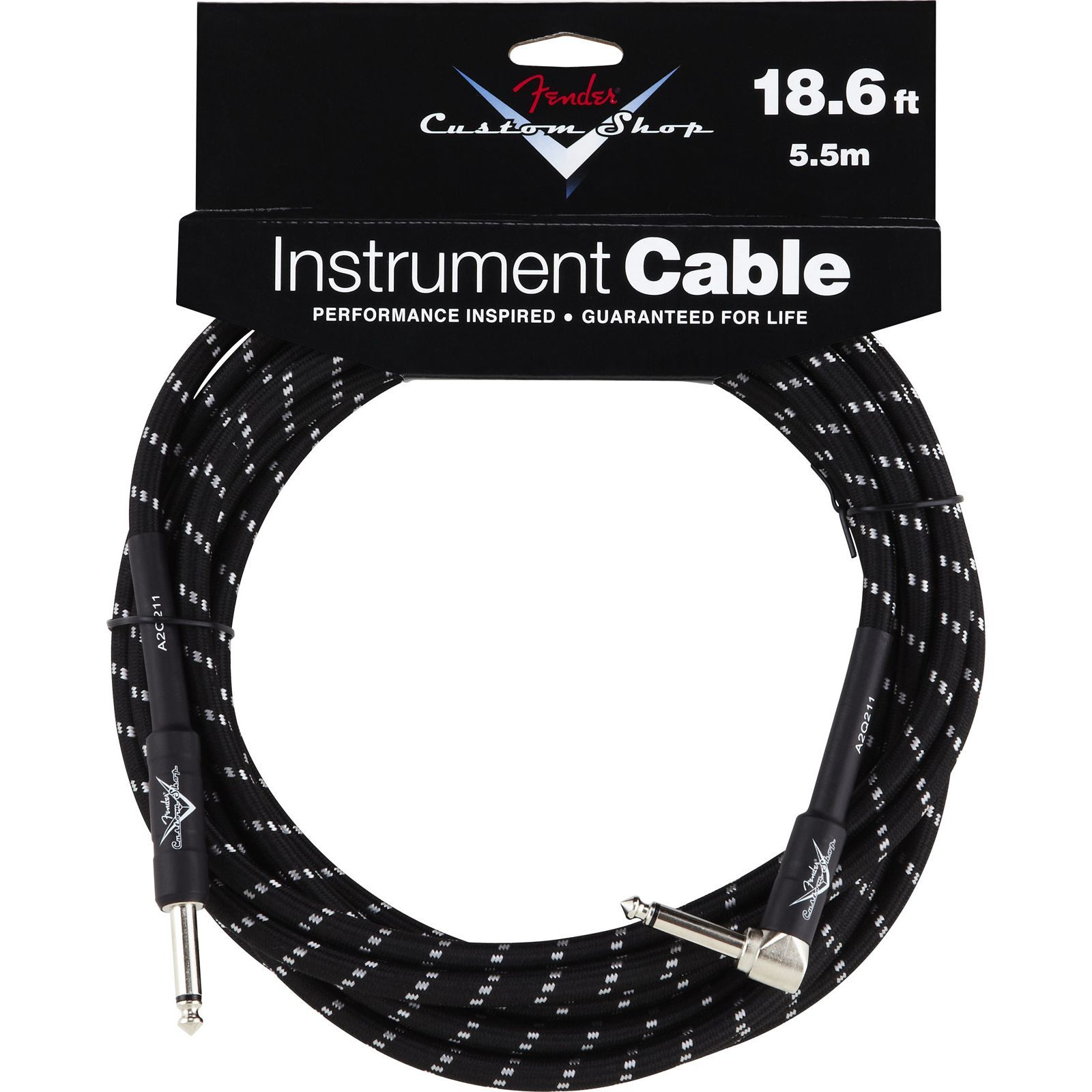 Fender Custom Shop Cable 5,5m BTW Black Tweed, Kli/WKli Produktbild
