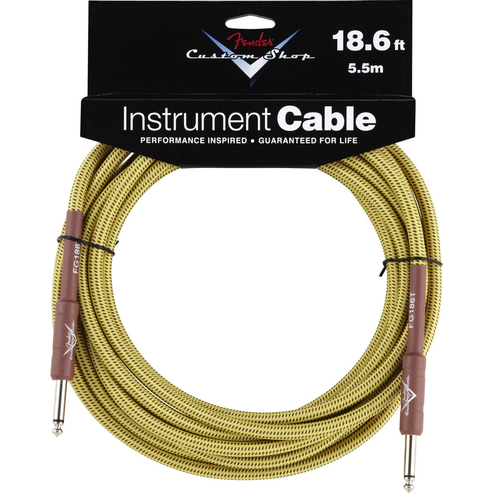 Fender Custom Shop Cable 5,5m TW Tweed, Kli/Kli Produktbild