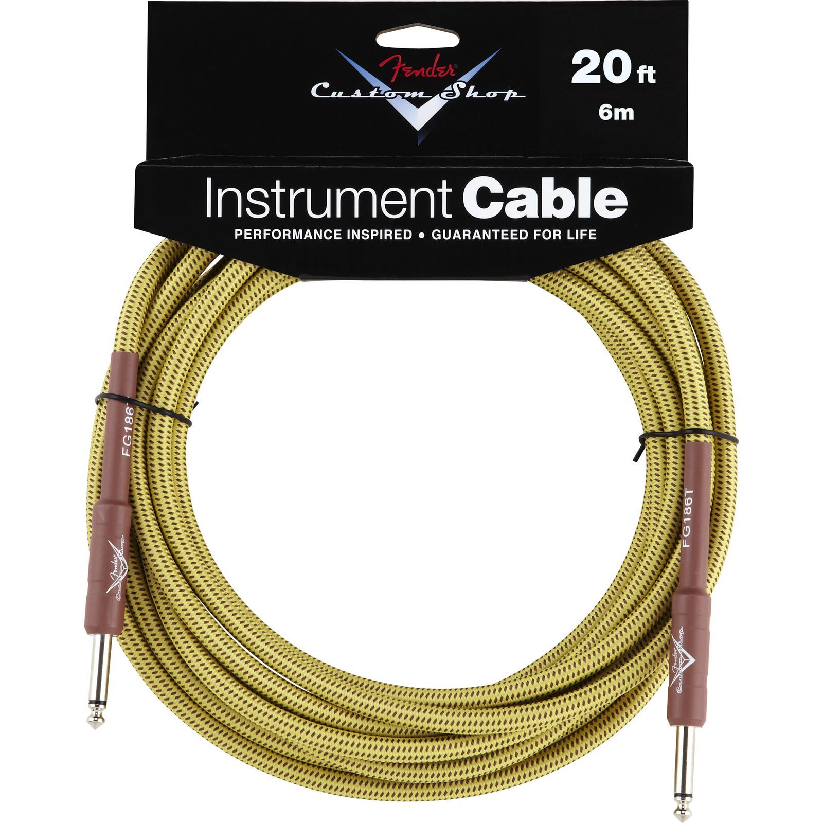 Fender Custom Shop Cable 6m TW Tweed, Kli/Kli Produktbild
