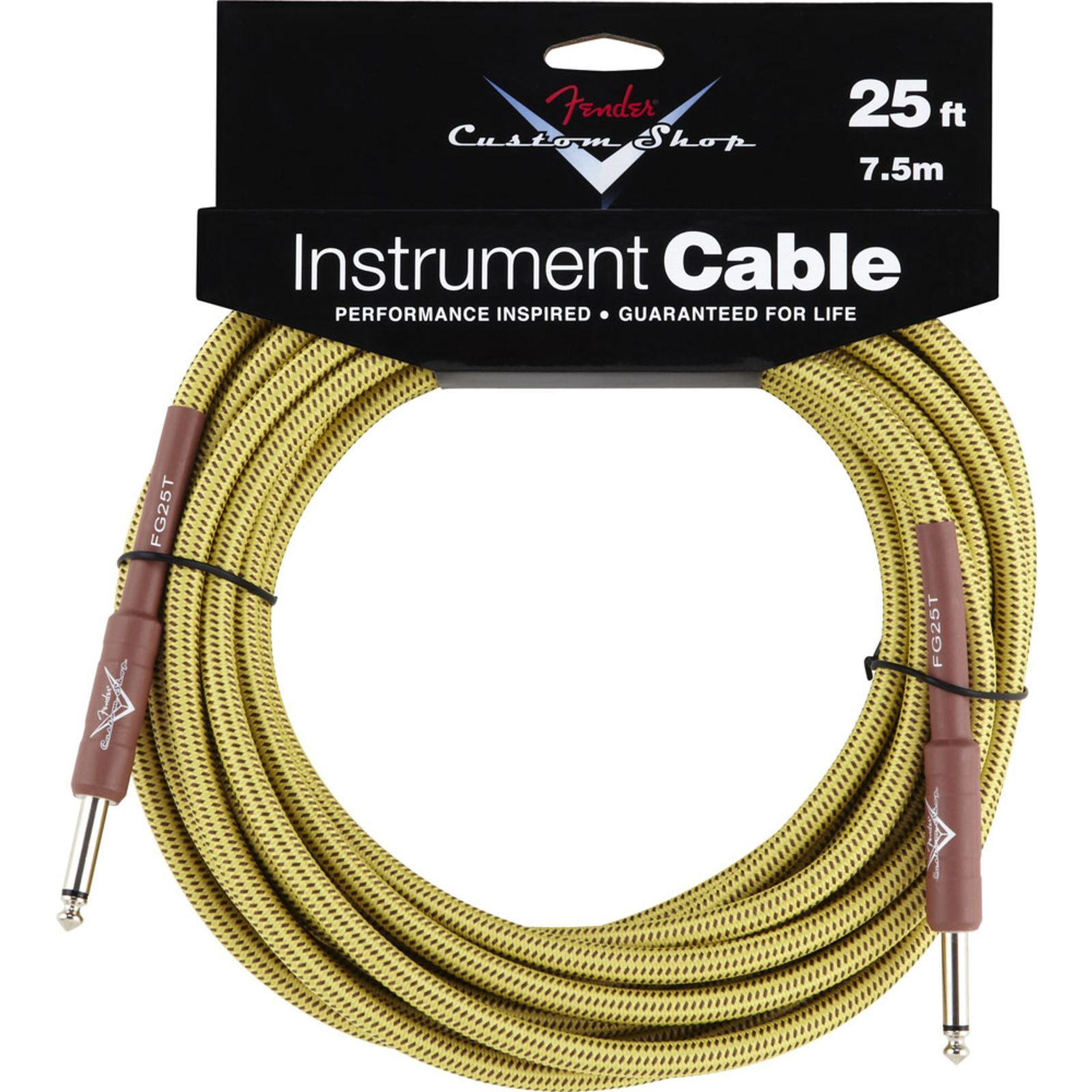 Fender Custom Shop Cable 7,5m TW Tweed, Kli/Kli Produktbild