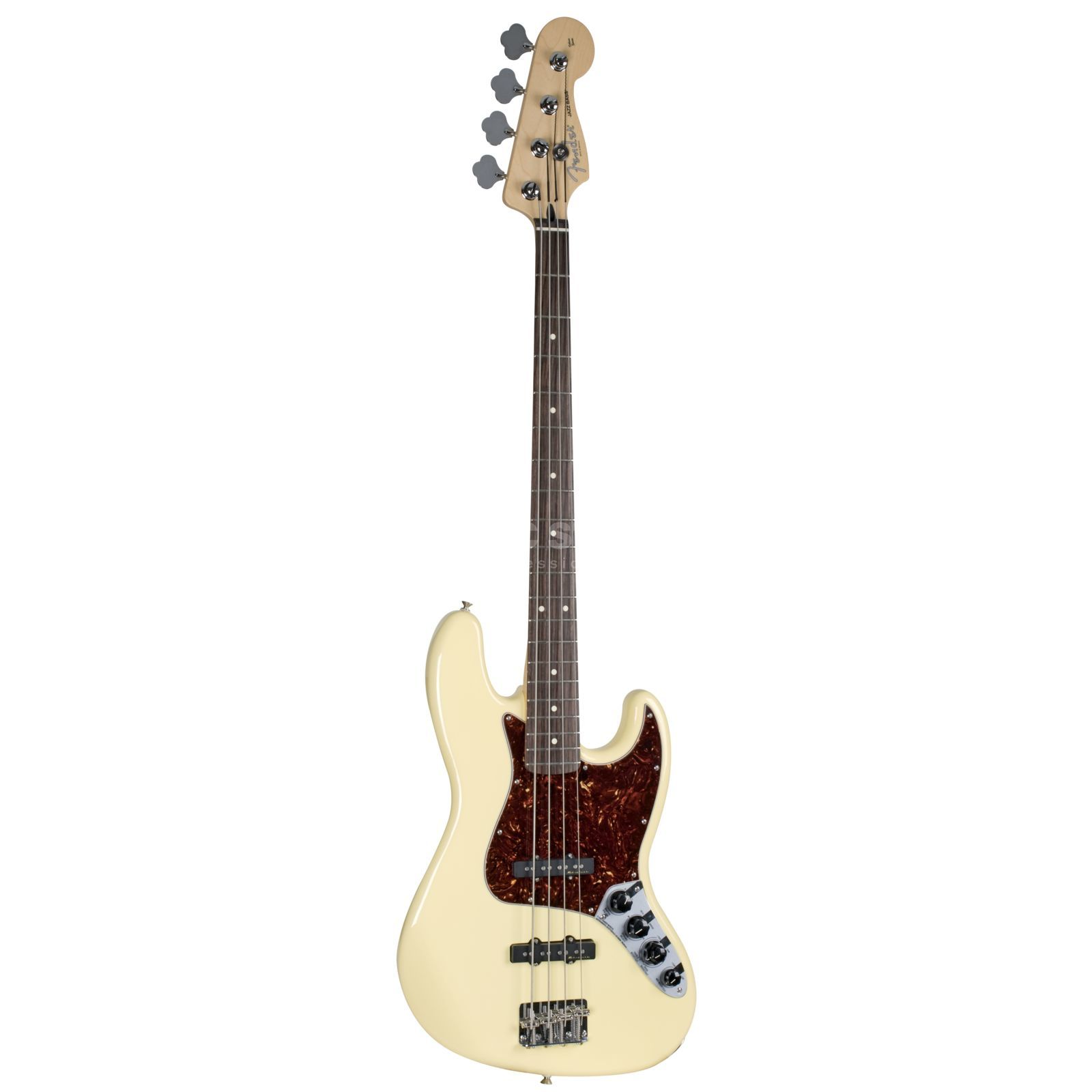 Fender Deluxe Active Jazz Bass RW Vintage White Изображение товара