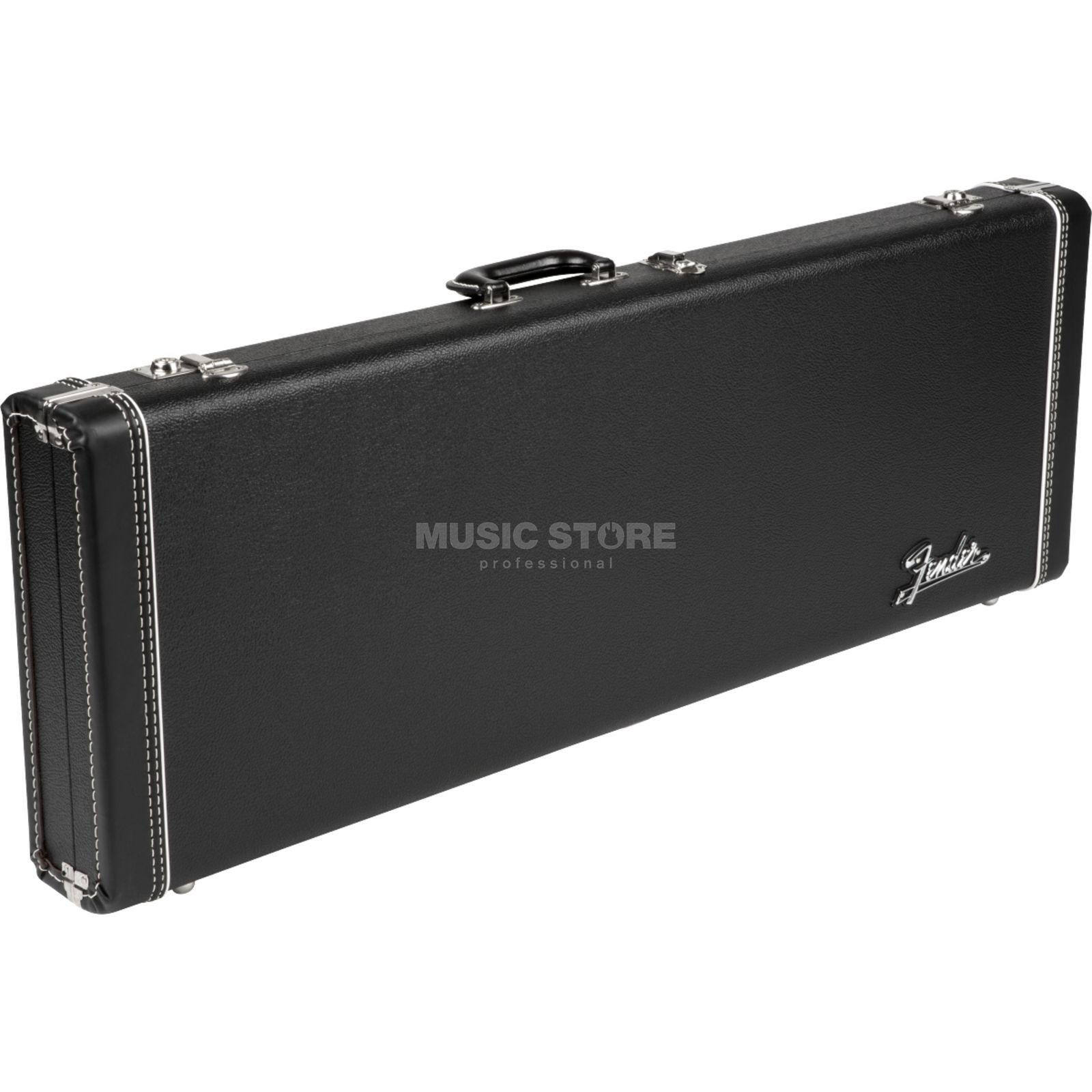 Fender Deluxe Hardshell Case Black Tolex Orange Plush Strat/Tele Produktbild