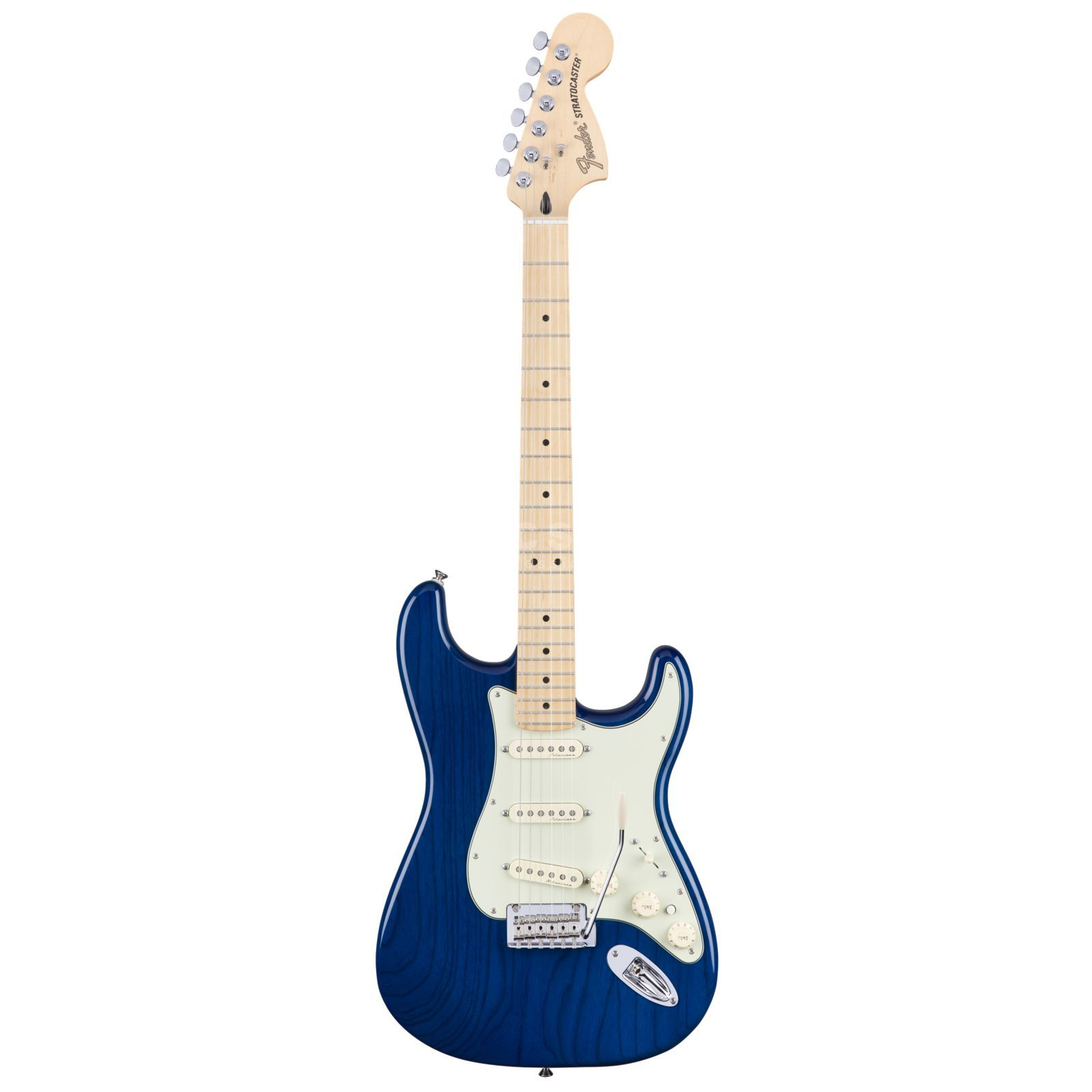 Fender Deluxe Stratocaster MN SBT Sapphire Blue Transparent Product Image
