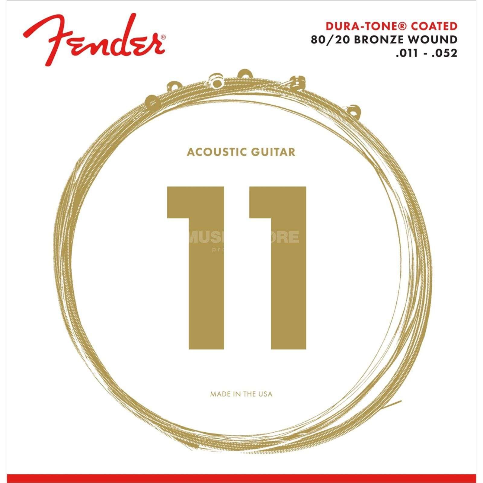 Fender Dura-Tone 880CL Acoustic Guita r Strings   Produktbillede