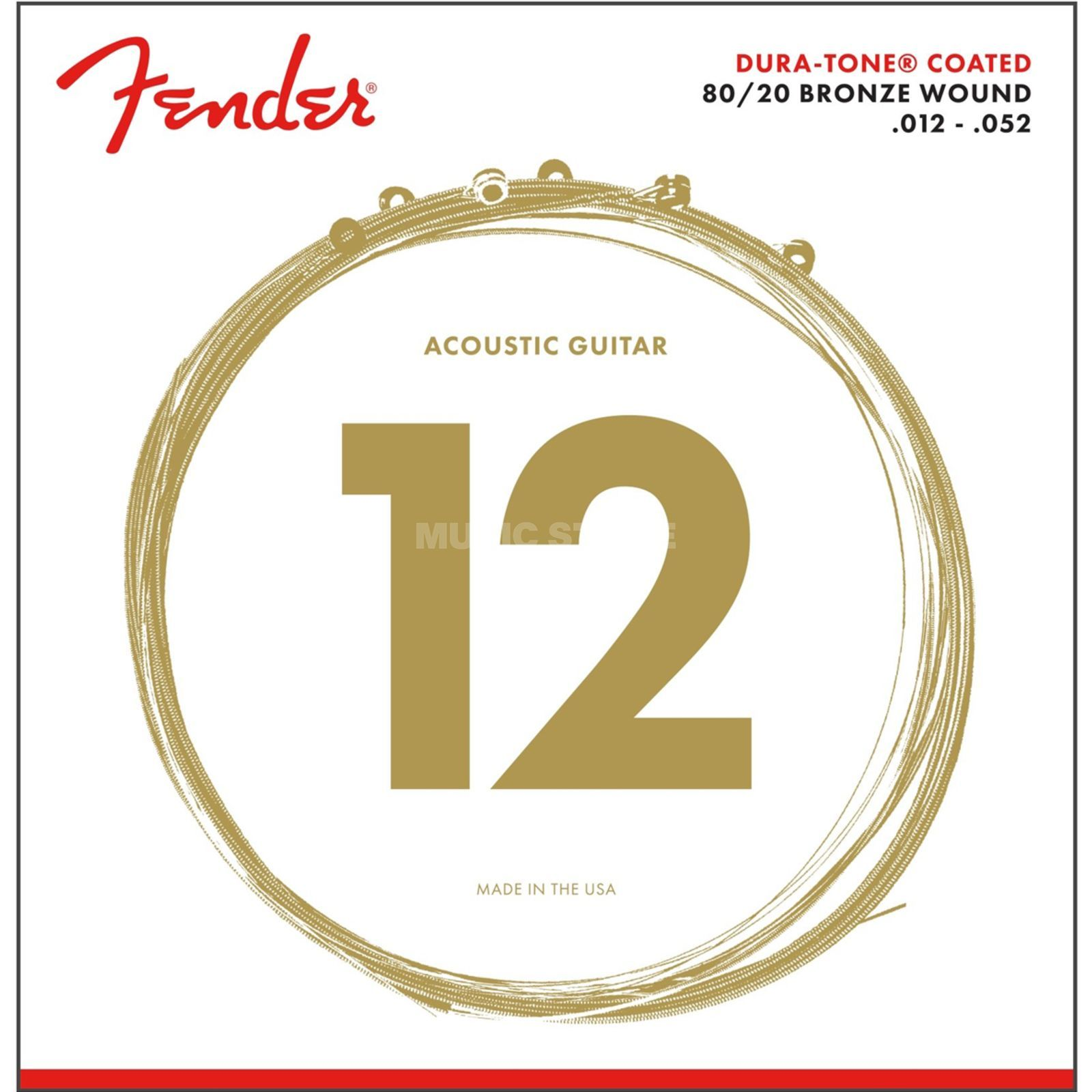 Fender Dura-Tone 880L Acoustic Guitar  Strings   Product Image