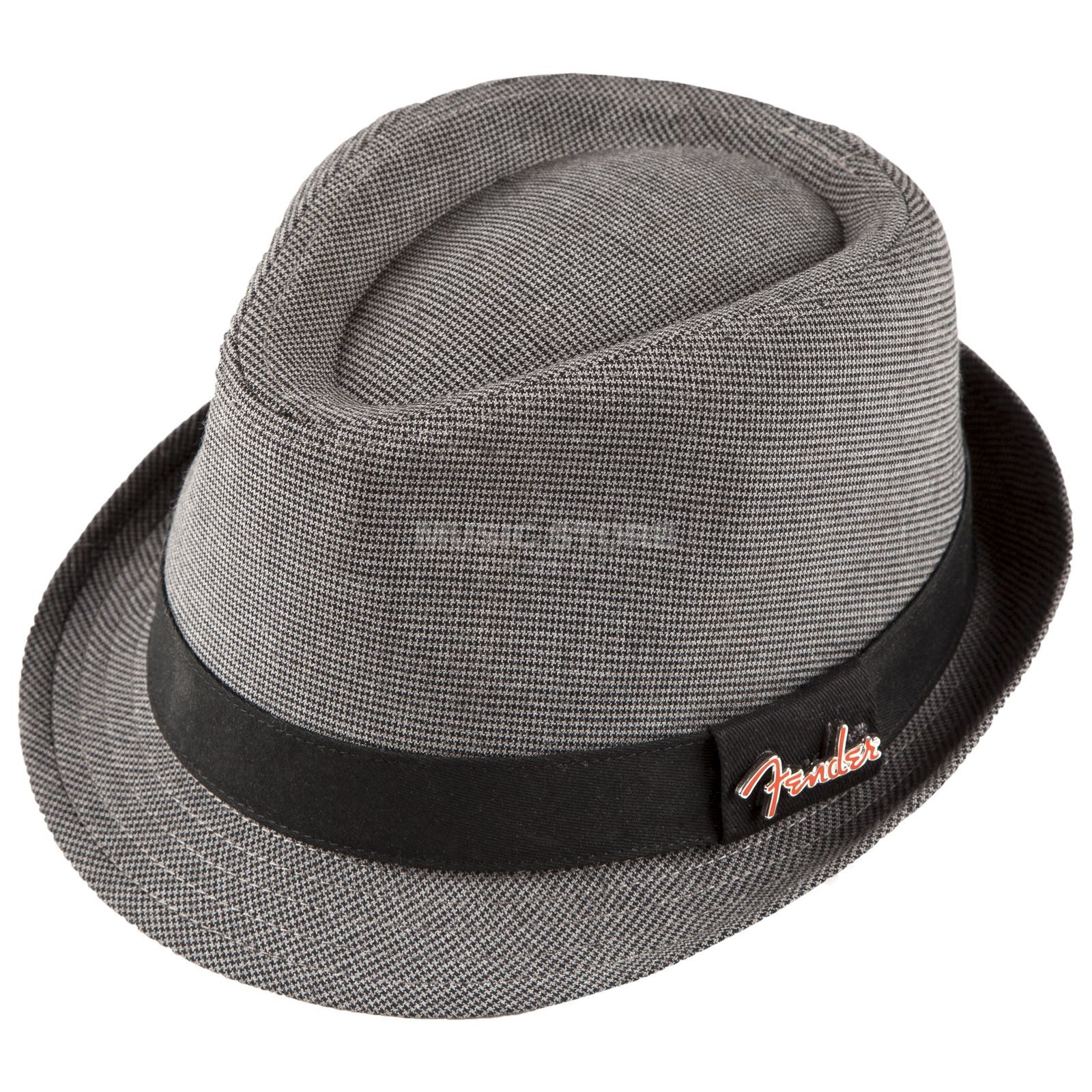 Fender Fedora Black/Gray Check S/M with Pin grey Produktbillede