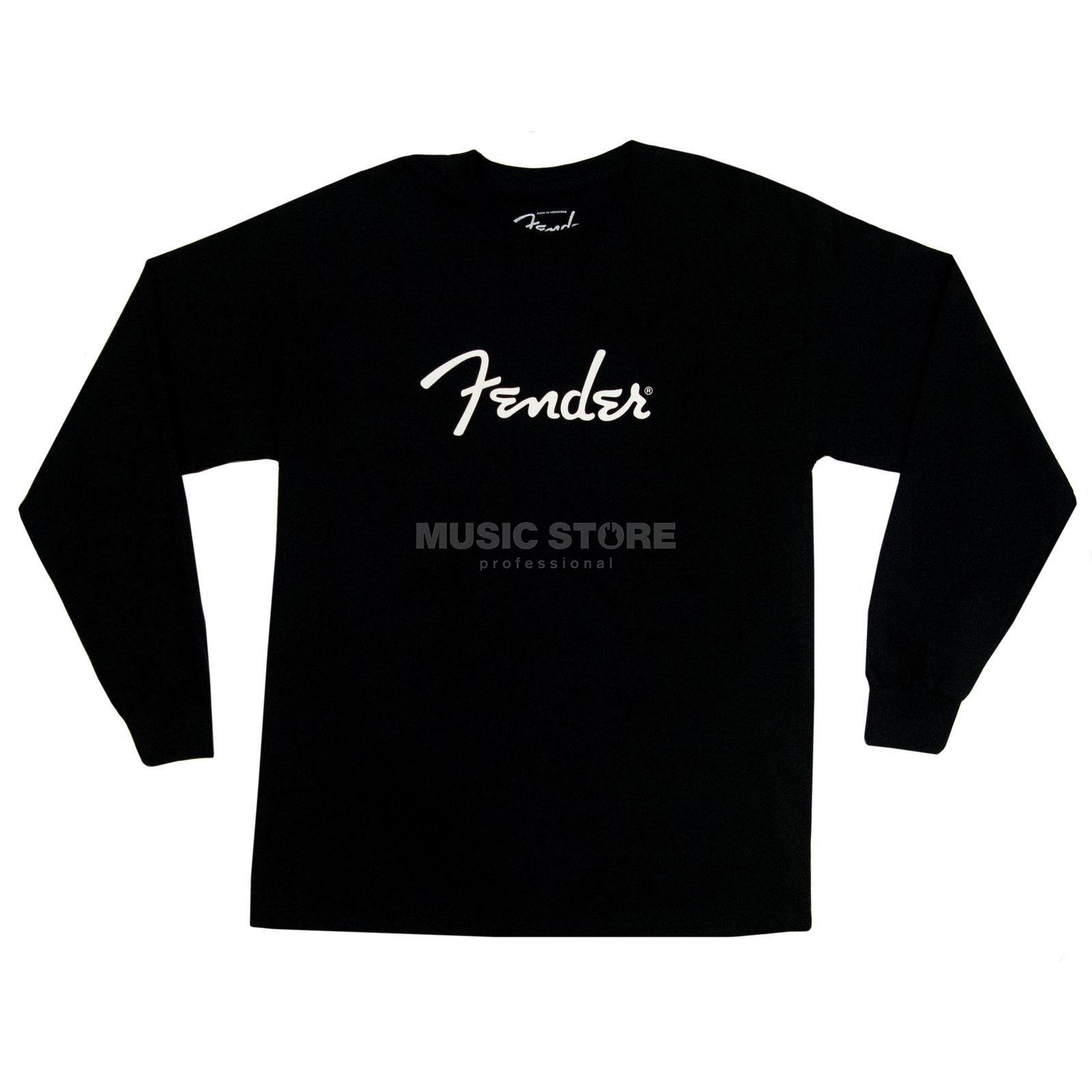 Fender Long Sleeve Shirt Logo XL Black Produktbild