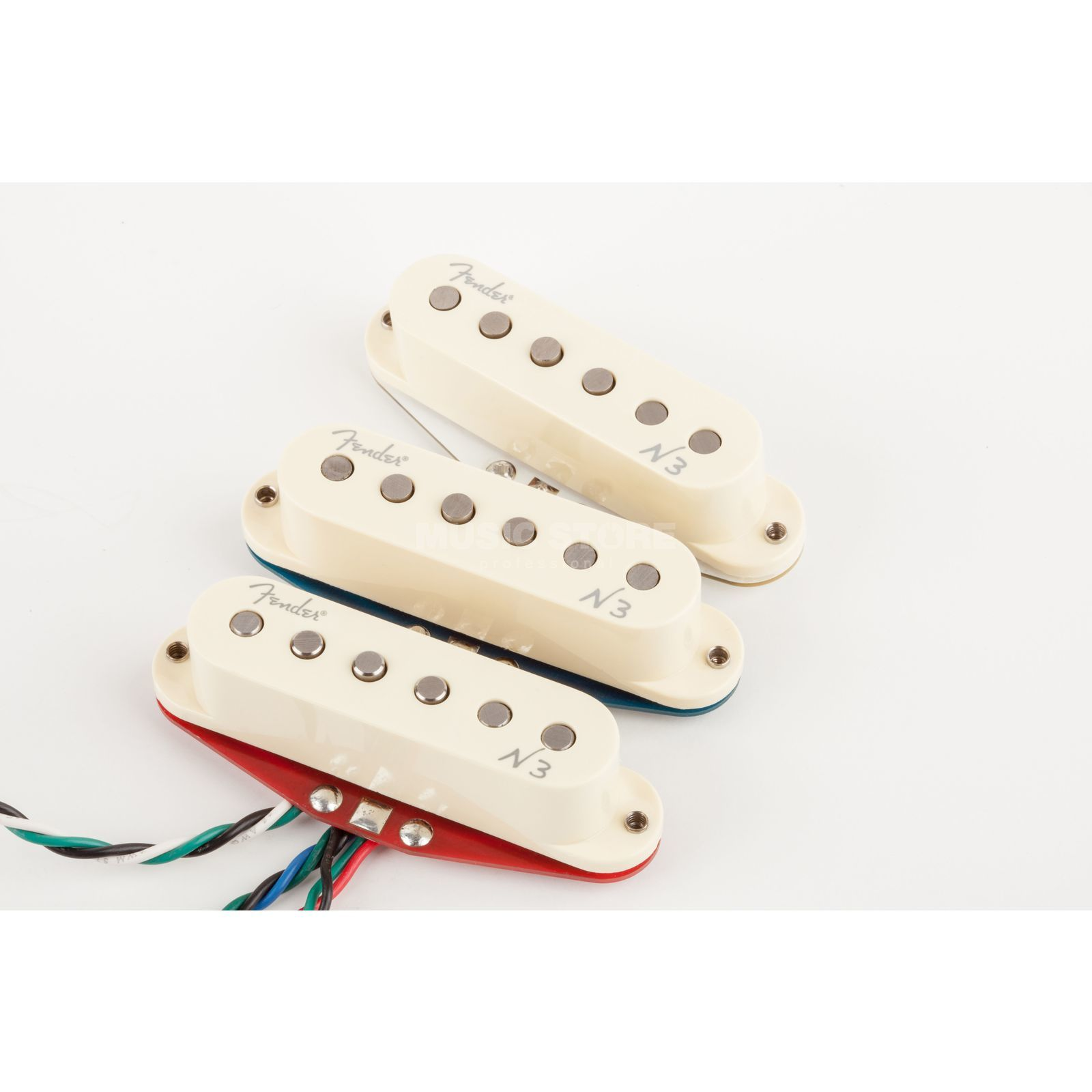 Fender Noiseless N3 Strat Set White Covers Produktbillede